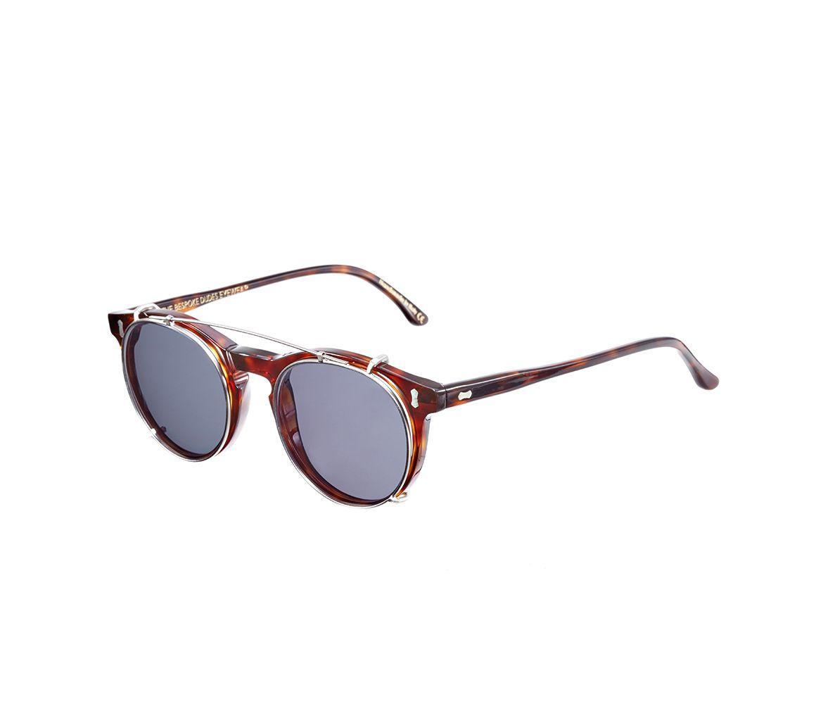 ed9b28f16f The Bespoke Dudes Eyewear - Gray Pleat Classic Tortoiseshell Acetate  Gradient Grey Lens Sunglasses for Men. View fullscreen