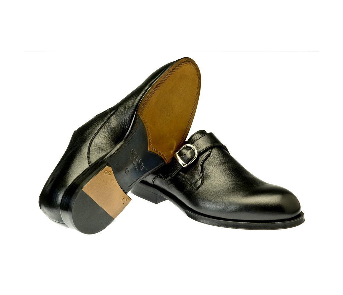 610d91d139bb Belsire - Black Rodolfo Leather Single Buckle Monk Strap Shoes for Men -  Lyst. View fullscreen