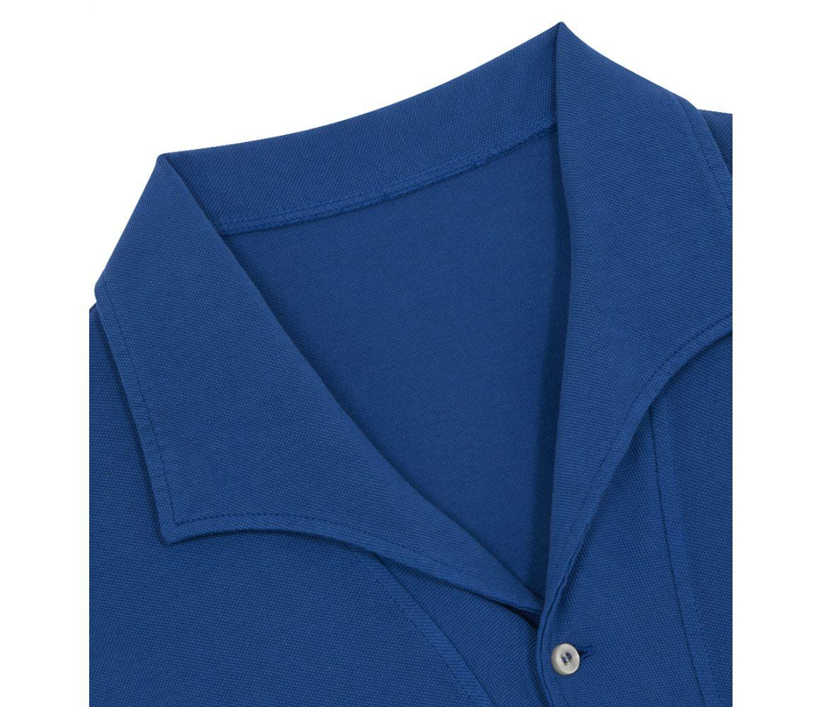 210c41ce9 Belsire - Blue Cotton Long-sleeved Polo Shirt for Men - Lyst. View  fullscreen