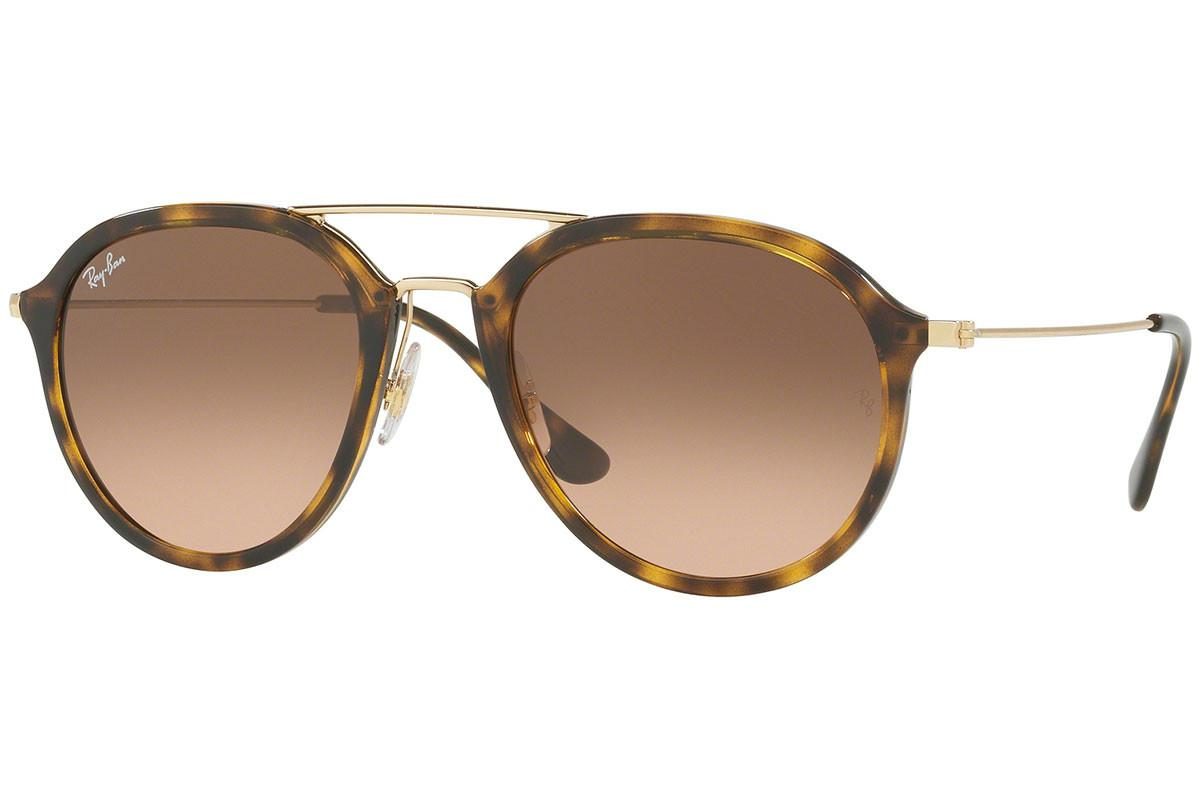 97ebe20ccd Lyst - Ray-Ban Rb4253 710 Gold And Tortoiseshell Frames With Brown ...