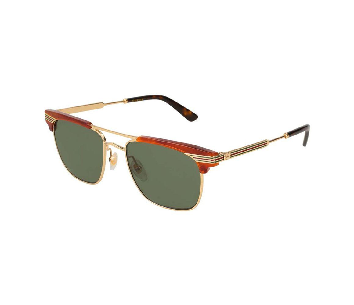 1d1333f847a Lyst - Gucci Brown Acetate GG0287S-001 Top Frame Square Sunglasses ...