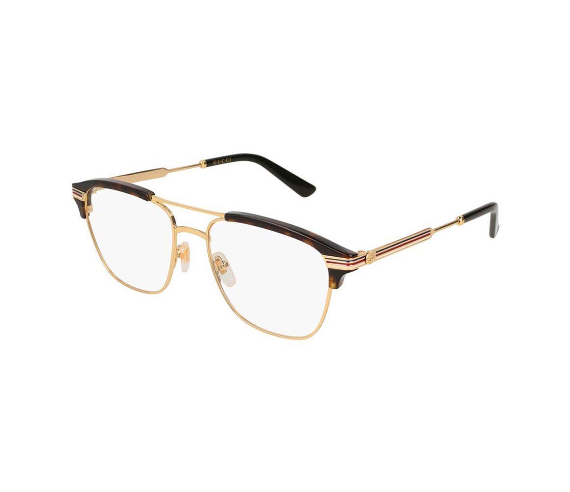 f94be4bd2faa2 Gucci Tortoiseshell Acetate GG0241O-001 Half Frame Optical Glasses ...