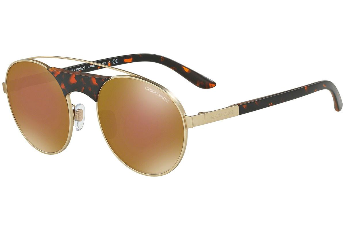 66cfe223eb Giorgio Armani Gold And Tortoiseshell Bridge Frames With Brown ...