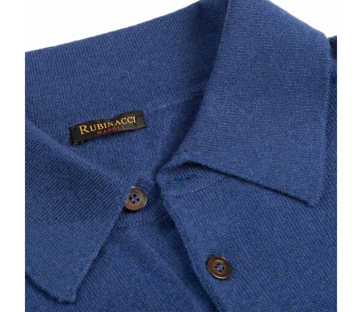 cc1271202 Rubinacci - Blue Long Sleeve Cashmere Polo Shirt for Men - Lyst. View  fullscreen