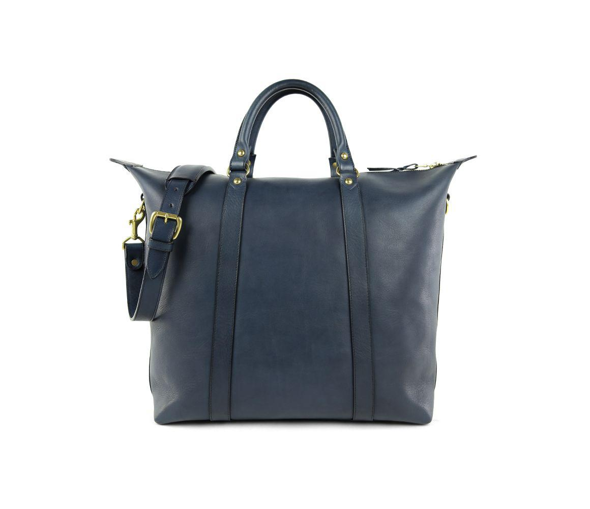 3d8f83bc75 Lyst - Frank Clegg Navy Hampton Zipper Leather Tote in Blue for Men