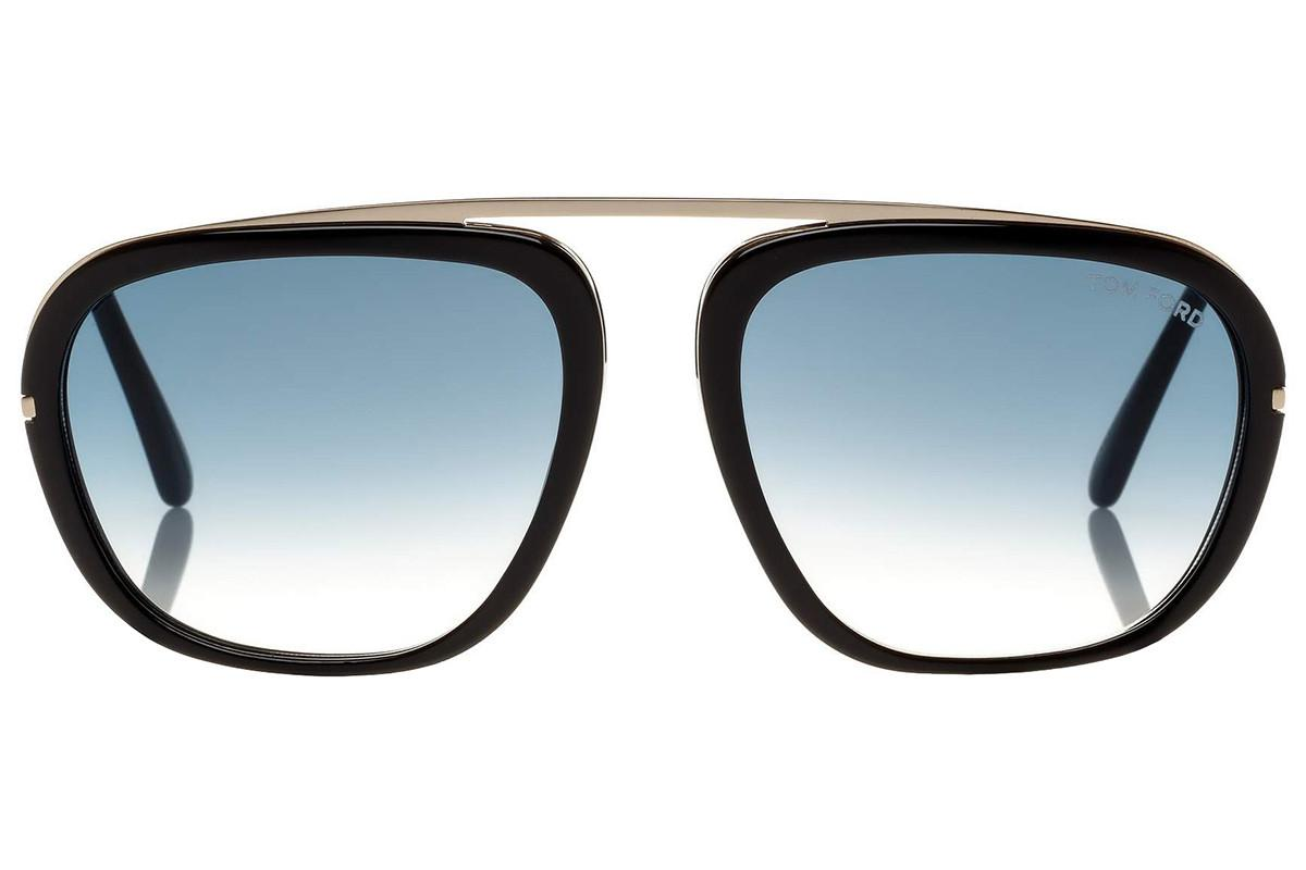 f87d48ec517 Lyst - Tom Ford Johnson Black And Gold Frames With Blue Lenses ...