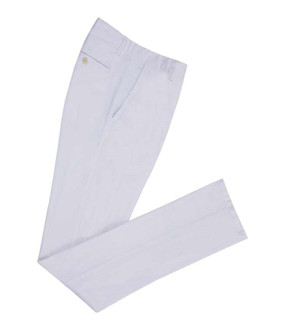 Au Large Pantalon De Coton Et De Laine Jambe Mince Blanc Anderson Et Sheppard tk4ldH