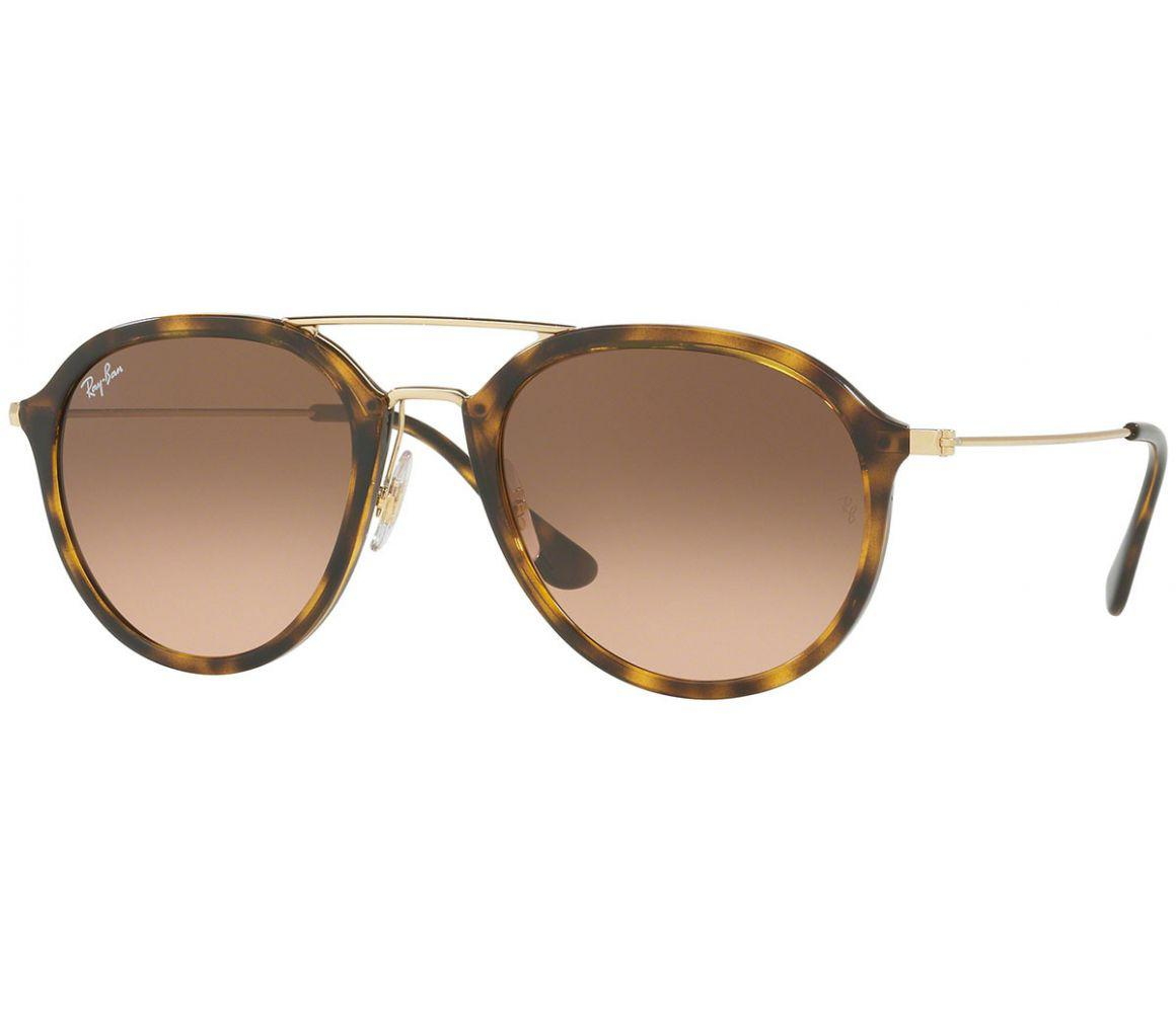 2a37df52124 Ray-Ban. Men s Metallic Tortoiseshell And Gold Frames With Brown Lenses  Sunglasses ...