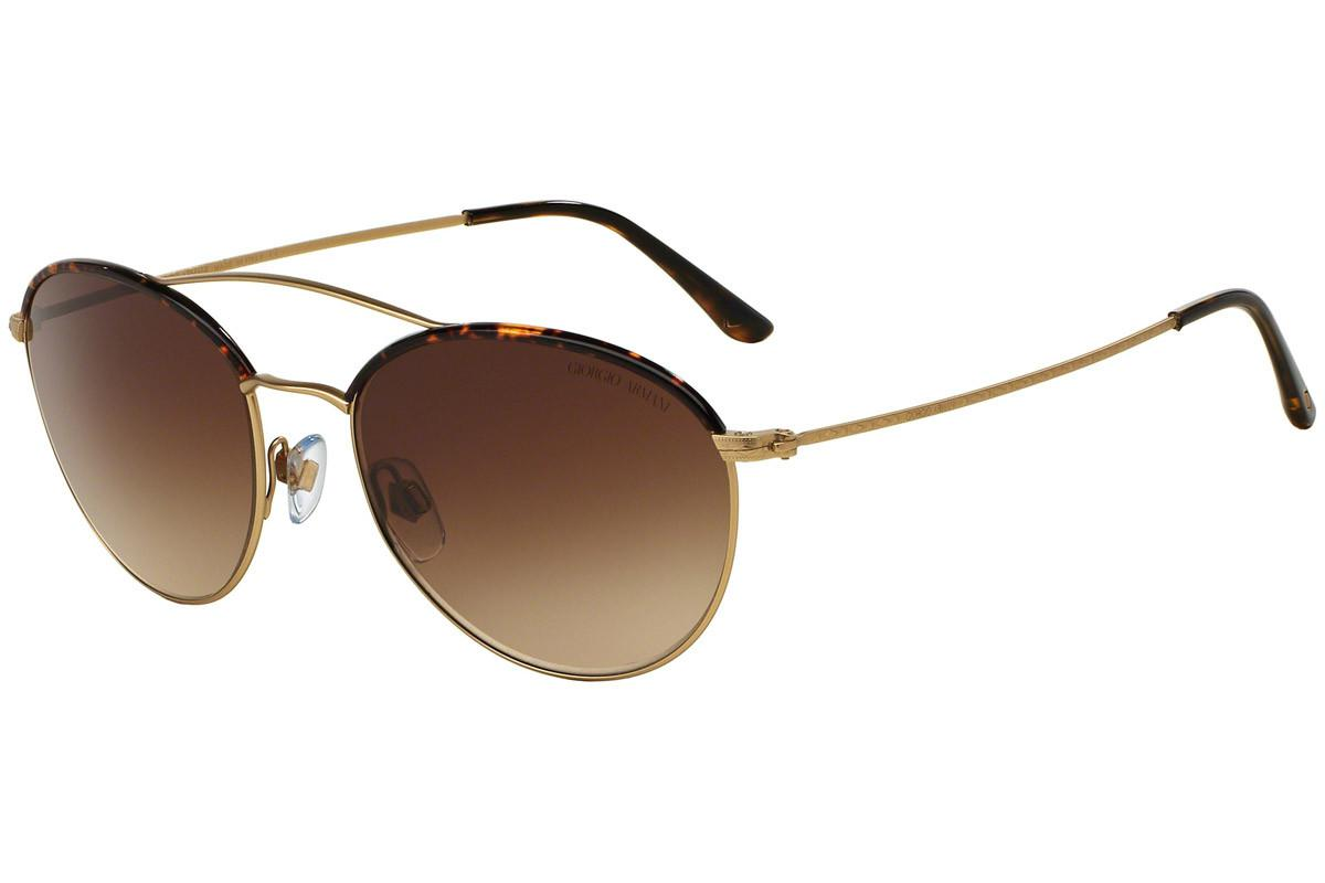 d611ba27ebbd Giorgio Armani Gold And Tortoiseshell Thin Rim Frames With Brown ...