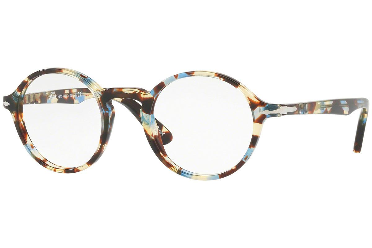 1e9ae69235d9 Lyst - Persol Multi-coloured Round Frames With Clear Lenses Eyewear ...