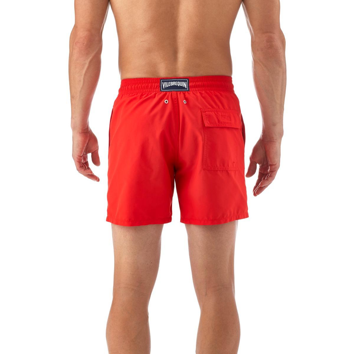e9006546d0 Vilebrequin Red Crab And Seashell Water-reactive Swim Shorts in Red ...