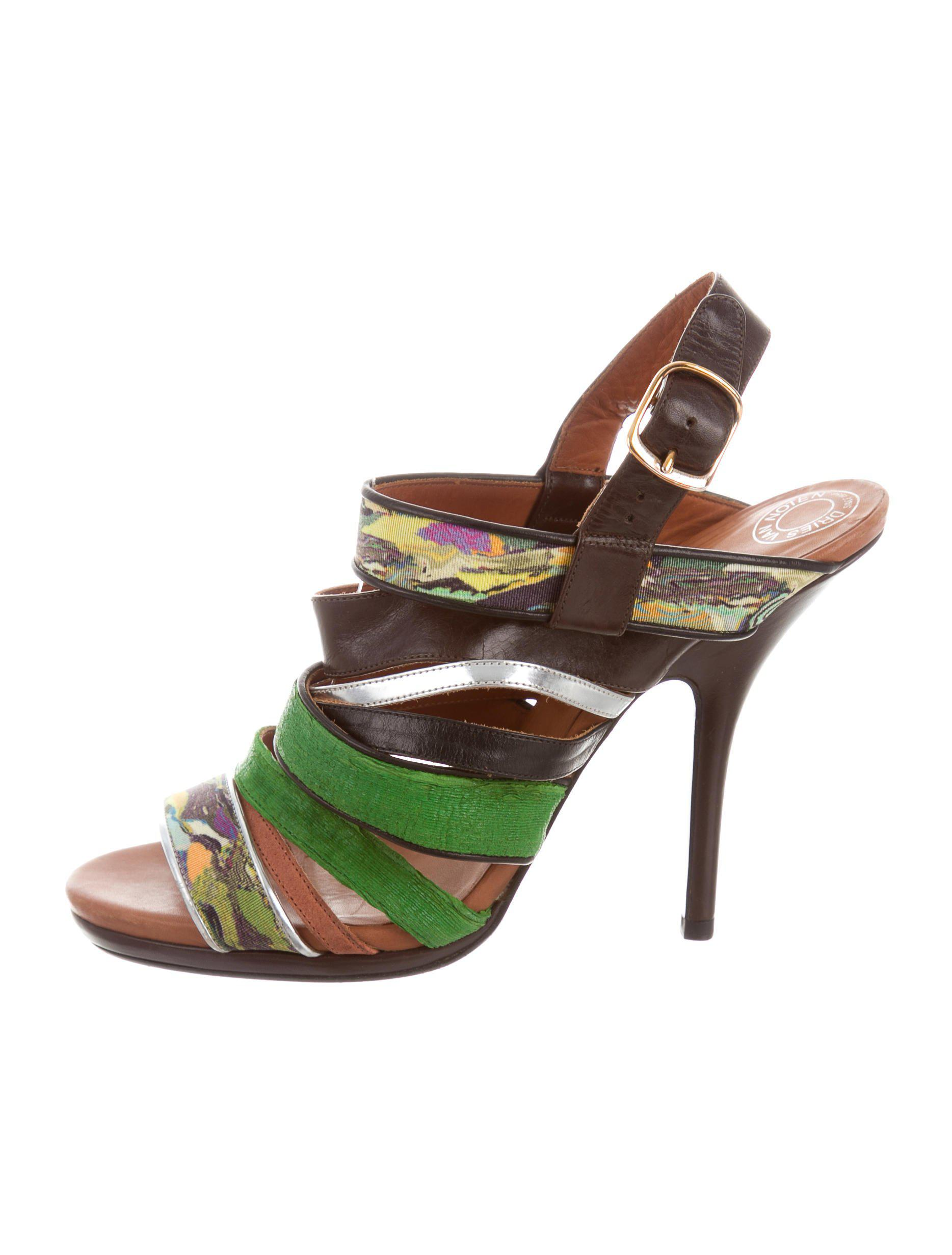 outlet recommend Dries Van Noten Multistrap Wedge Sandals cheap best place free shipping cheap 8FAw5kOW