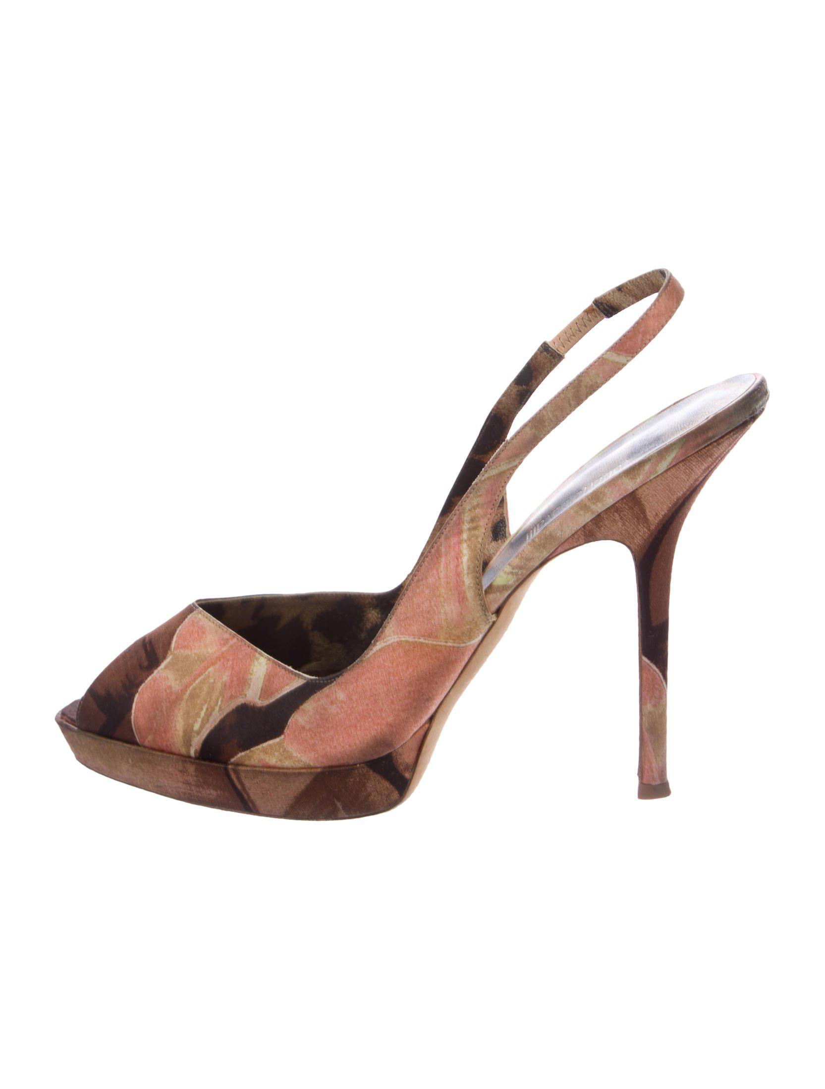 really online quality for sale free shipping Roberto Cavalli Satin Slingback Pumps discount with paypal Cgd3Kooq