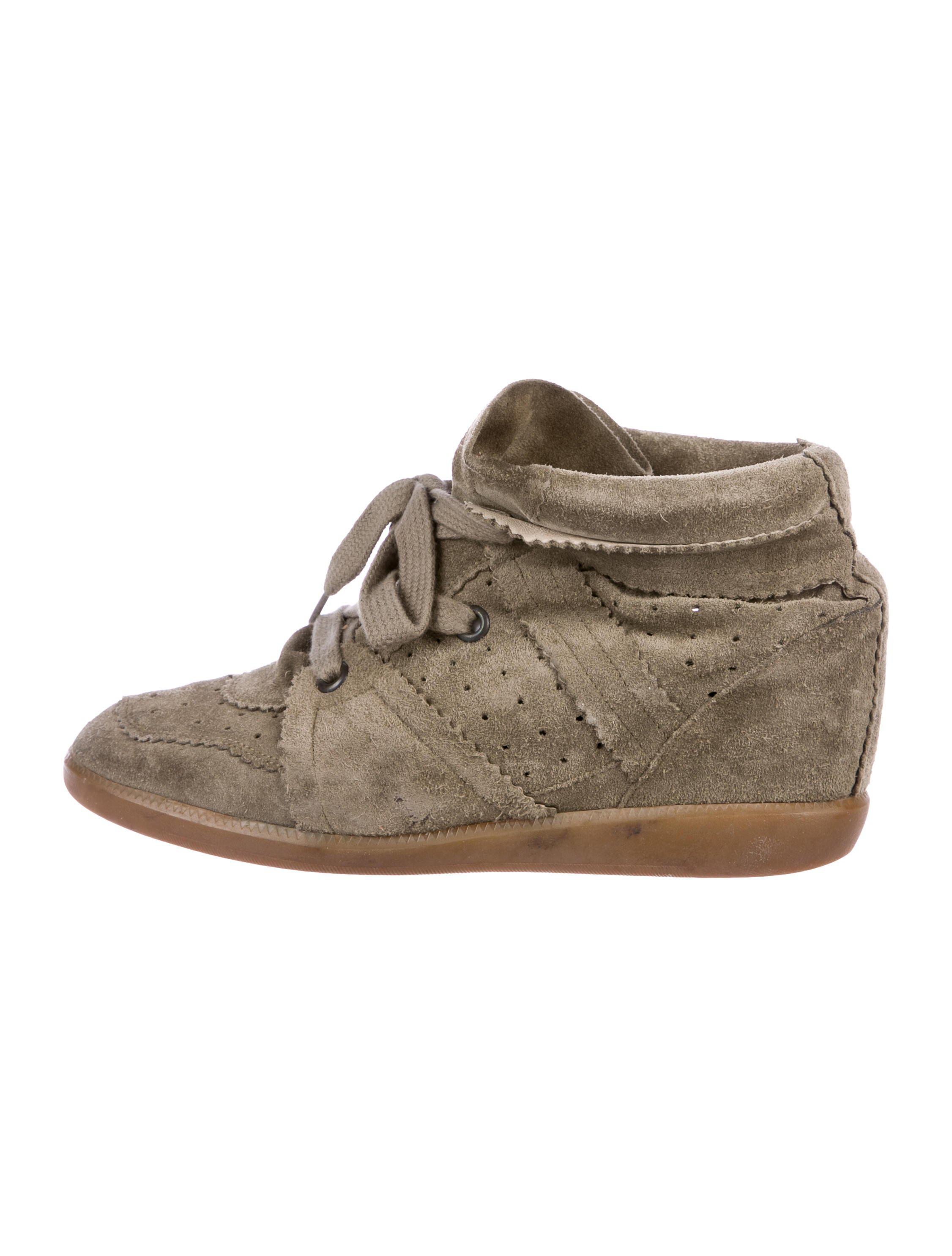 f55b8016ca Lyst - Isabel Marant Bobby Wedge Sneakers Olive in Green