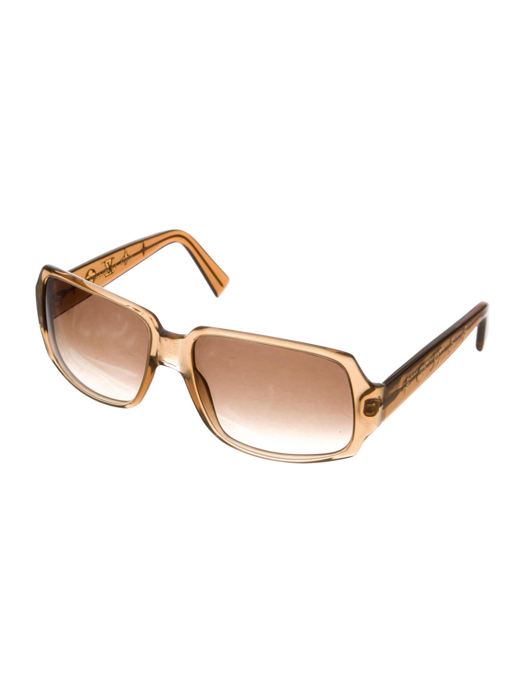 f9df8fda56e Lyst - Louis Vuitton Obsession Carré Sunglasses Brown in Metallic