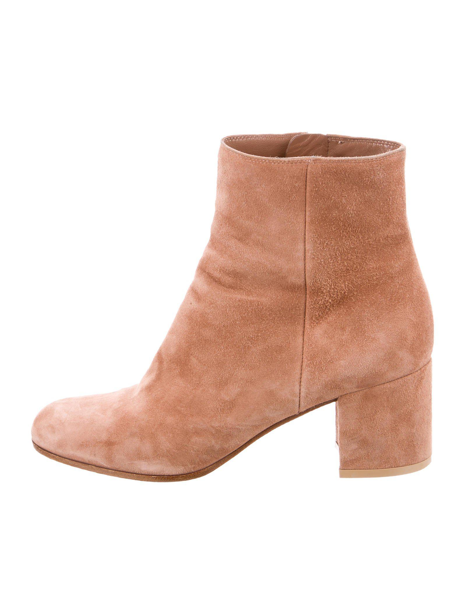 Gianvito Rossi Suede Round-Toe Ankle Boots free shipping best prices cheap sale Inexpensive ER2JRY