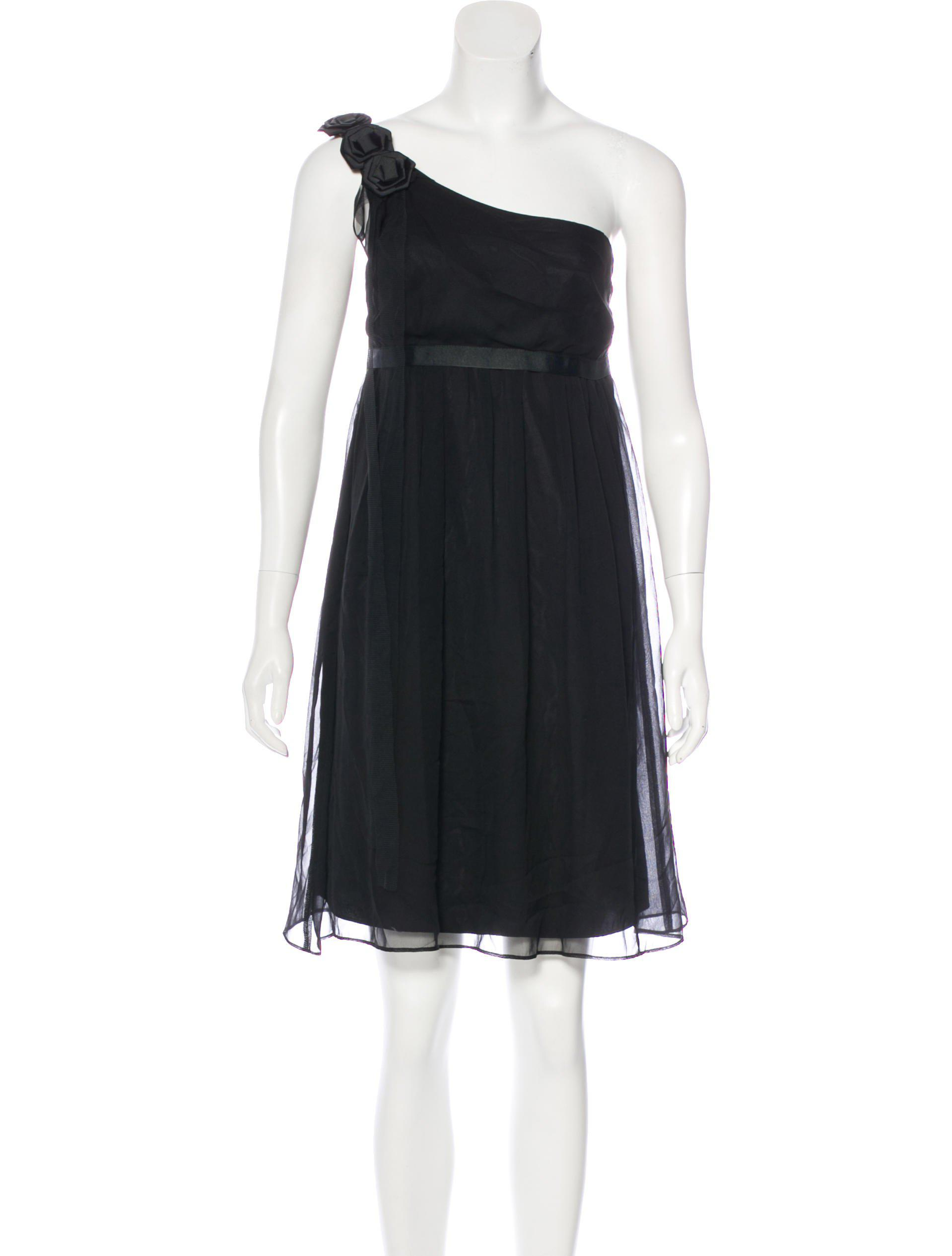 f54c638147e Lyst - David Meister One-shoulder Mini Dress in Black