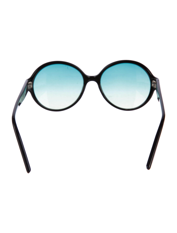 Lyst - Barton Perreira Bouvier Round Sunglasses in Black