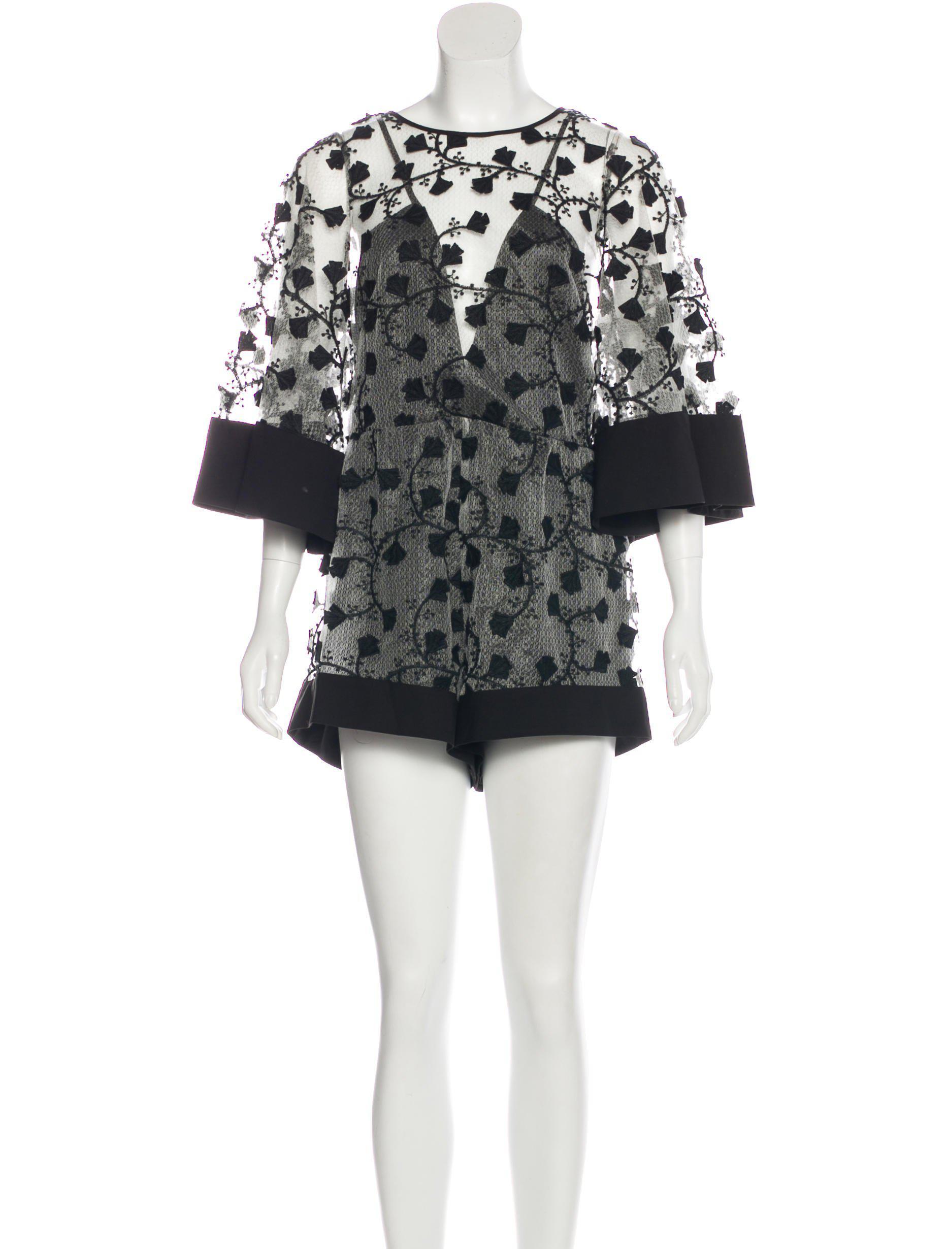 f7155b58cc2 Lyst - Alice Mccall Gypsy Lace Romper W  Tags in Black