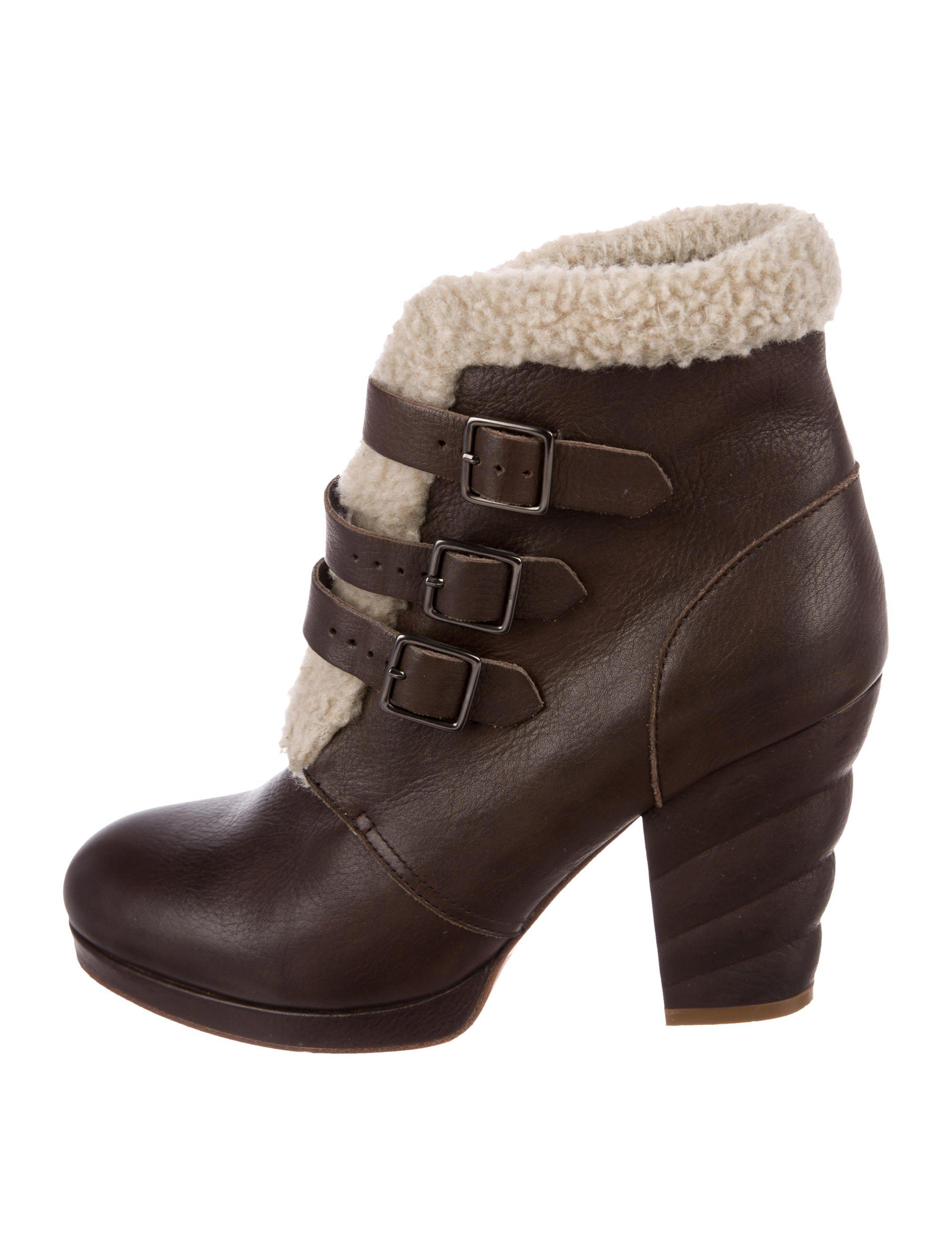 Rag & Bone Leather Round-Toe Boots pictures online deals online SuEU2