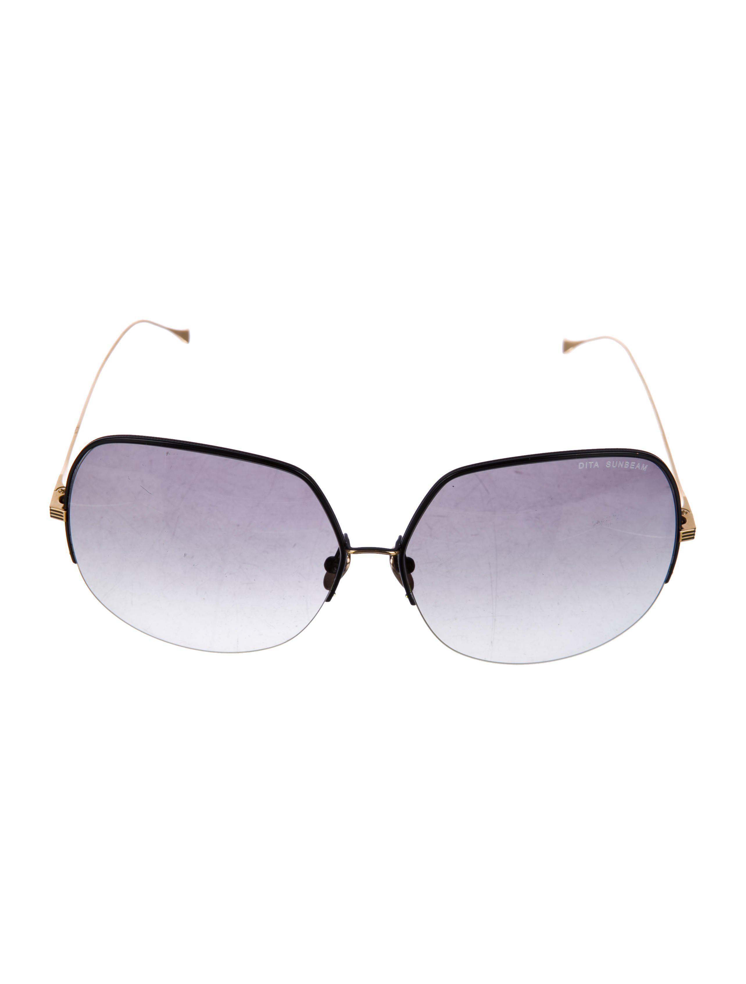 288956031cc6 Lyst - Dita Sunbeam Oversize Sunglasses Gold in Metallic