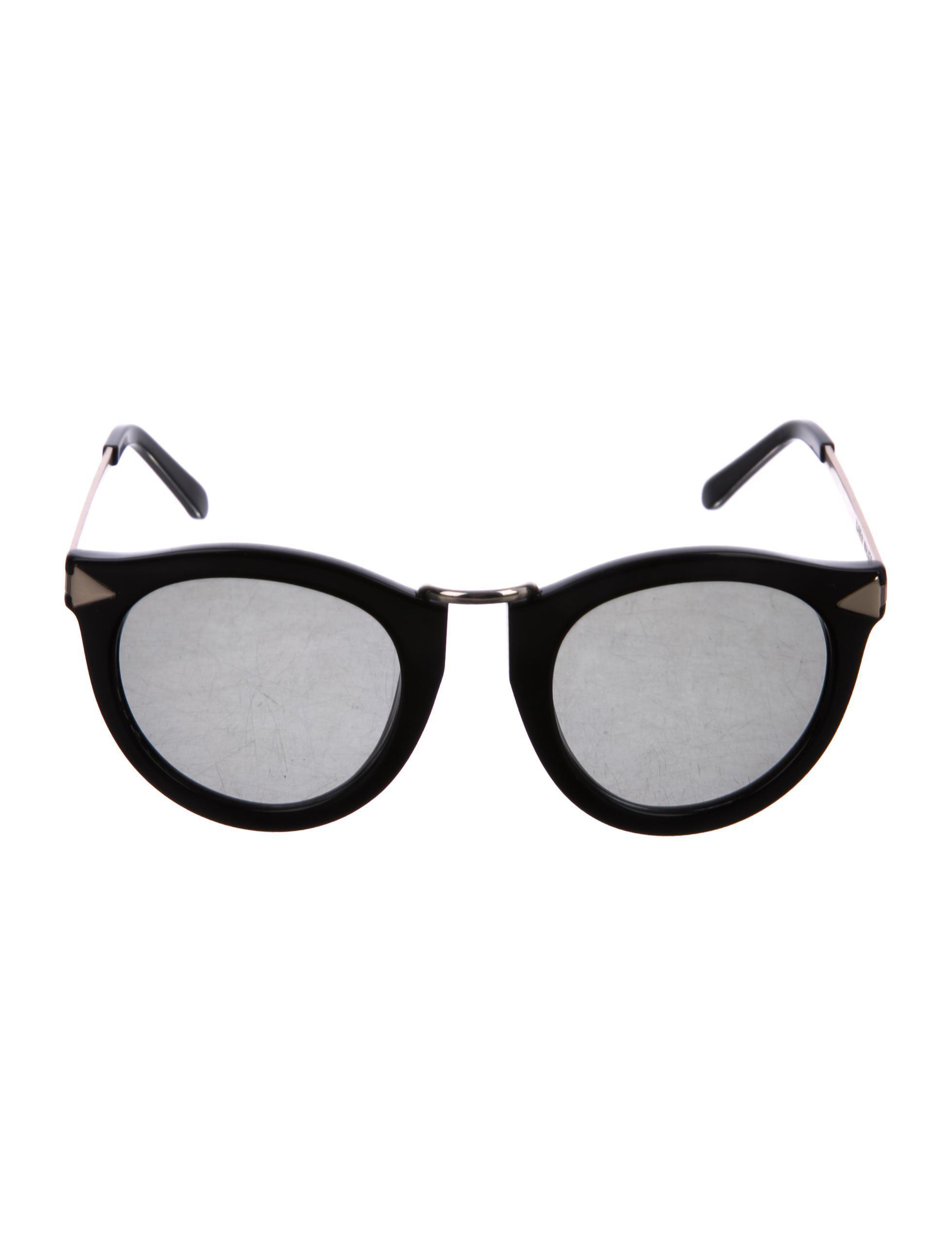 97d7a3921cf Lyst - Karen Walker Harvest Tinted Sunglasses Black in Metallic