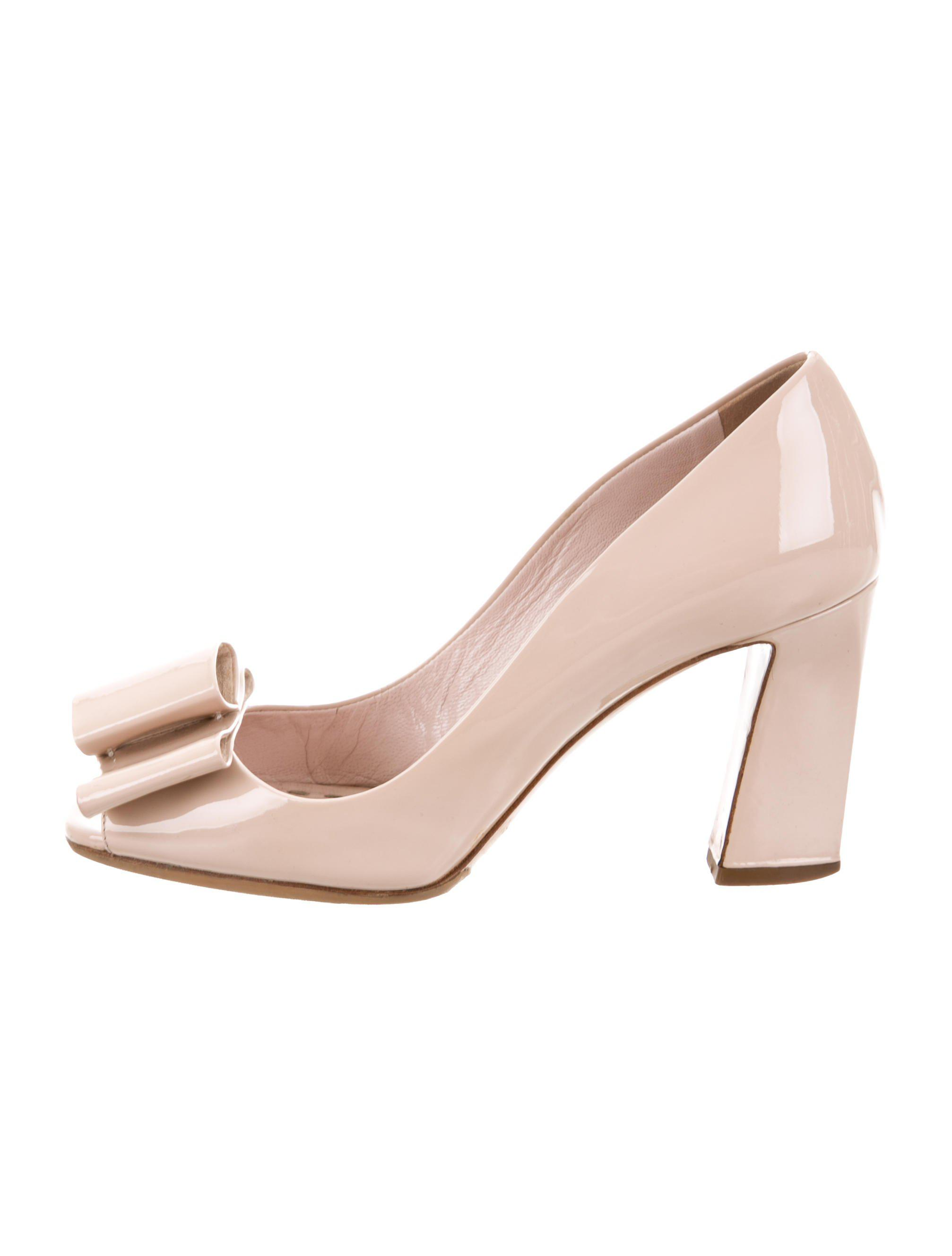 cheap sale looking for Miu Miu Bow-Accented Peep-Toe Pumps wide range of cheap price sale free shipping shop online cheap reliable nnGmNEAy6m