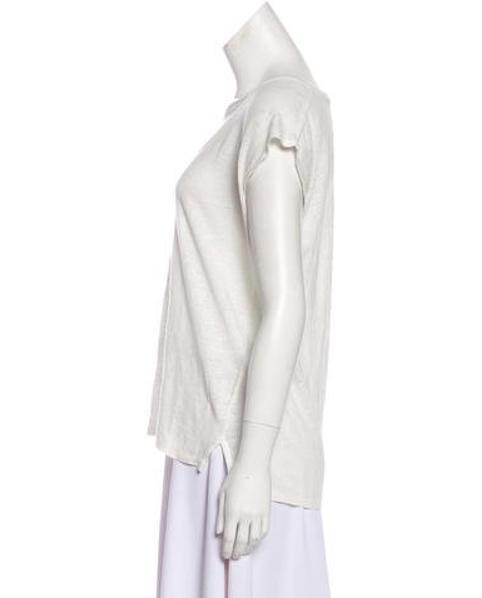 080d67089da574 Lyst - Rag   Bone Sleeveless Linen T-shirt in White
