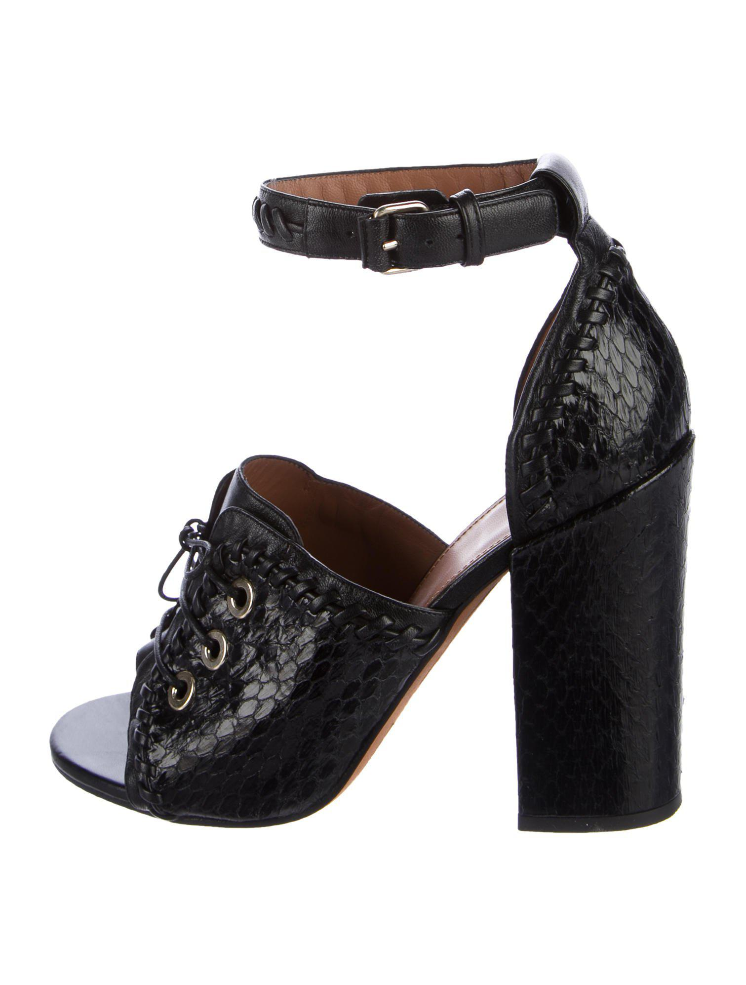 Givenchy Snakeskin Lace-Up Sandals collections h13SR0rHKc
