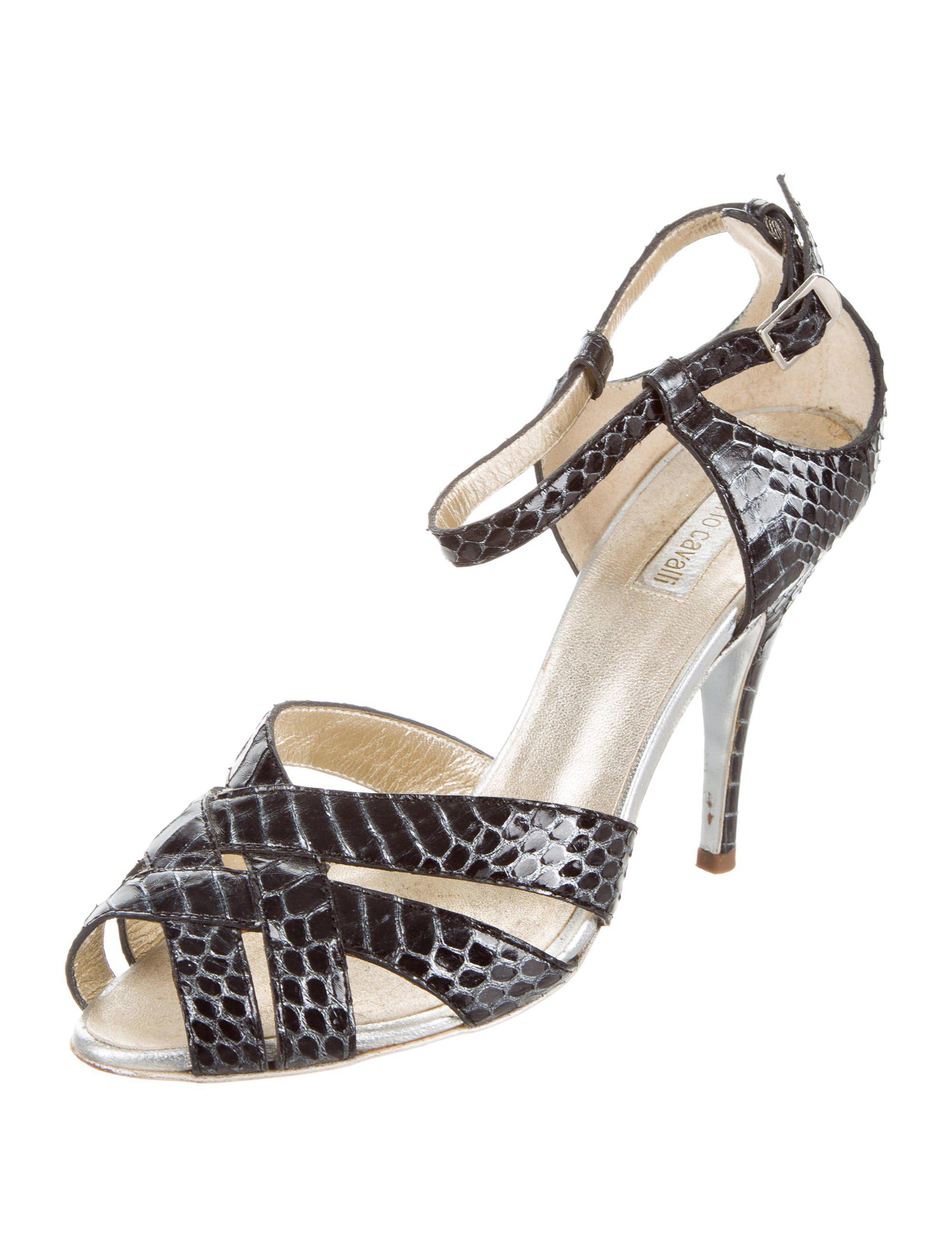 discount for cheap prices cheap price Roberto Cavalli Python Crossover Sandals discount best prices cost outlet wiki H85GEiTlL
