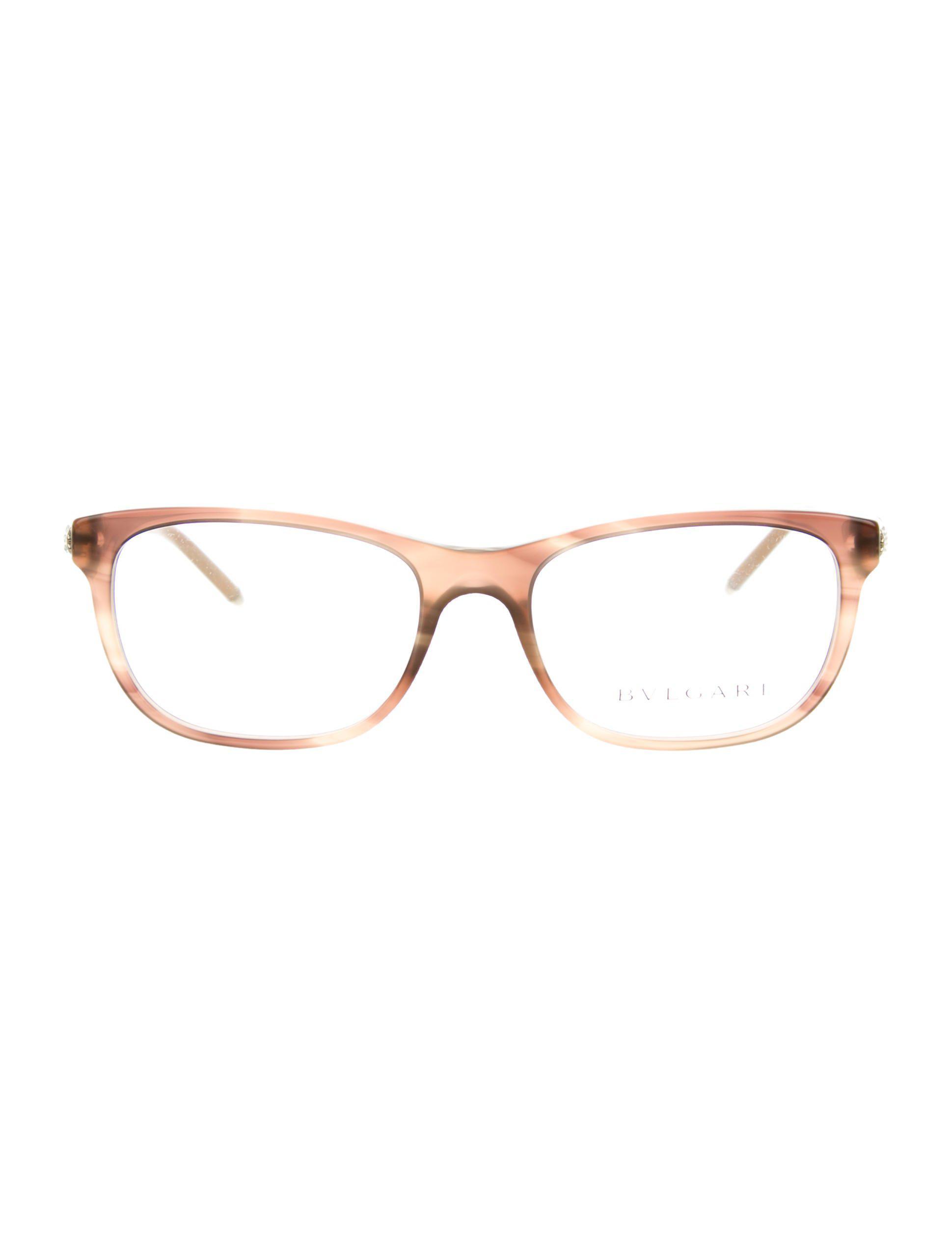 52c33ede81cf Lyst - Bvlgari Jewel-embellished Marble Eyeglasses W  Tags in Brown