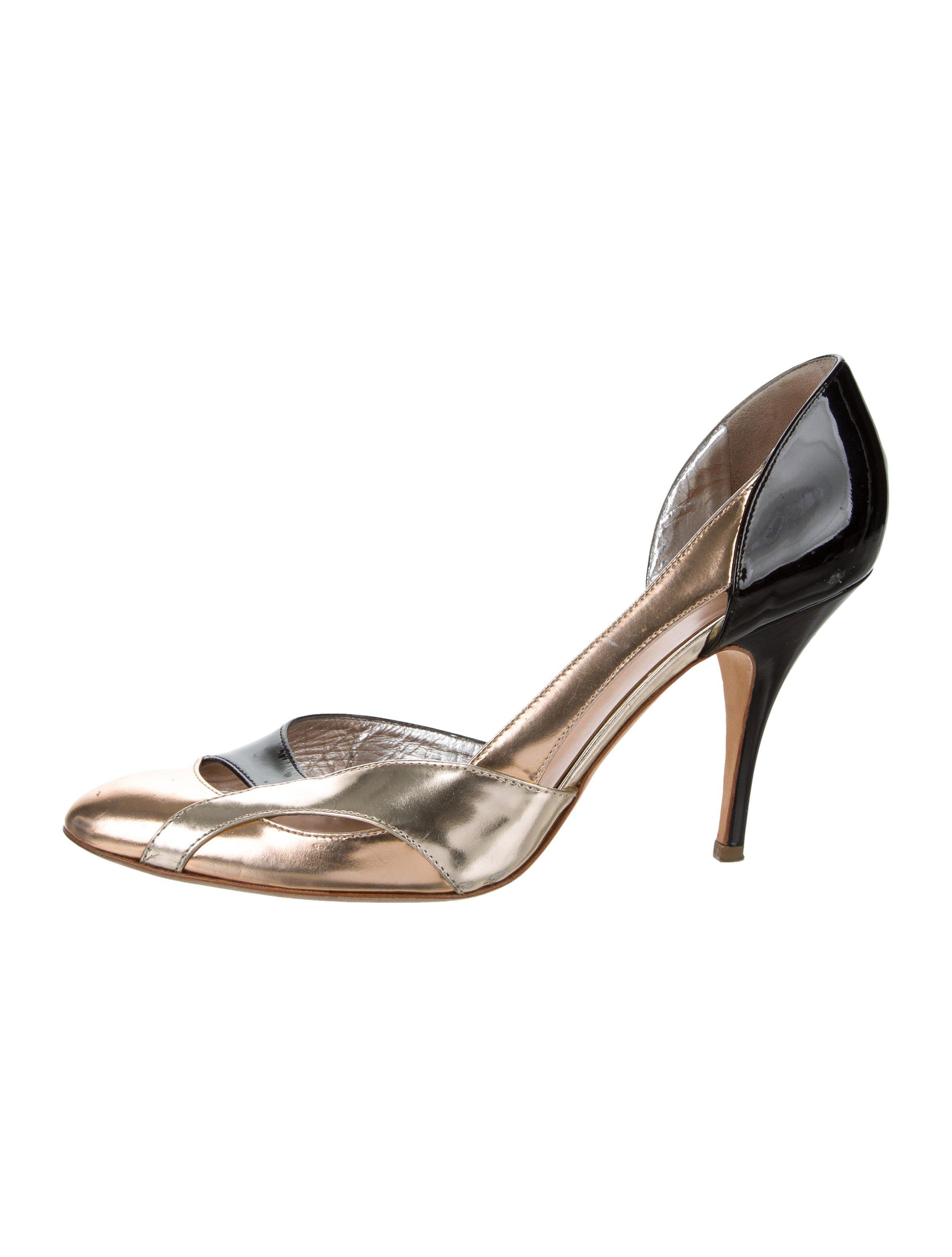 discount best prices clearance with mastercard Giuseppe Zanotti Metallic Cutout Pumps sale sneakernews sale from china free shipping latest RDju9fP2