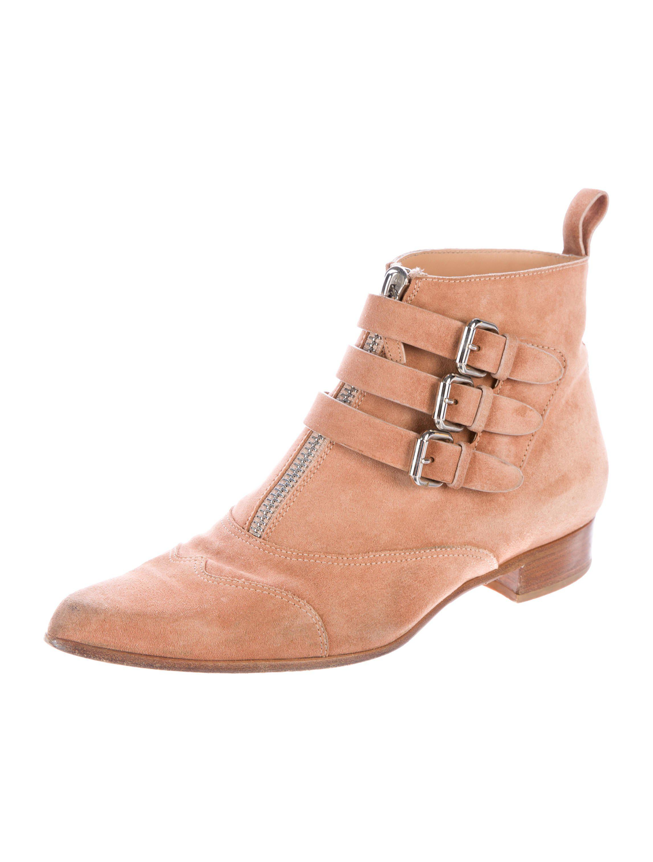 Tabitha Simmons Suede Buckle-Accented Ankle Boots for sale cheap real For sale online sale view sJnOBsYX
