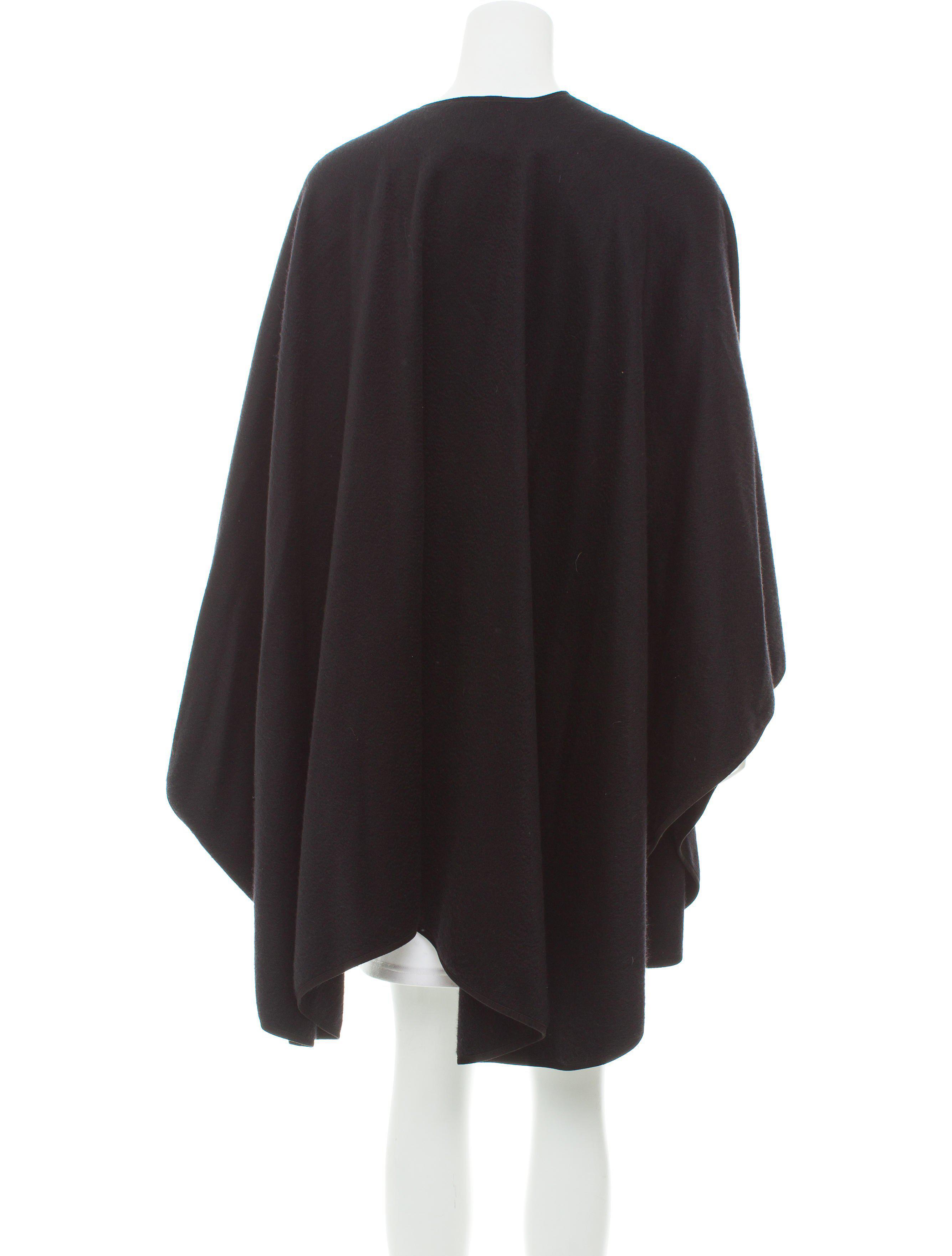 50d75b3e88b7 Lyst - Loro Piana Cashmere Asymmetrical Cape in Black