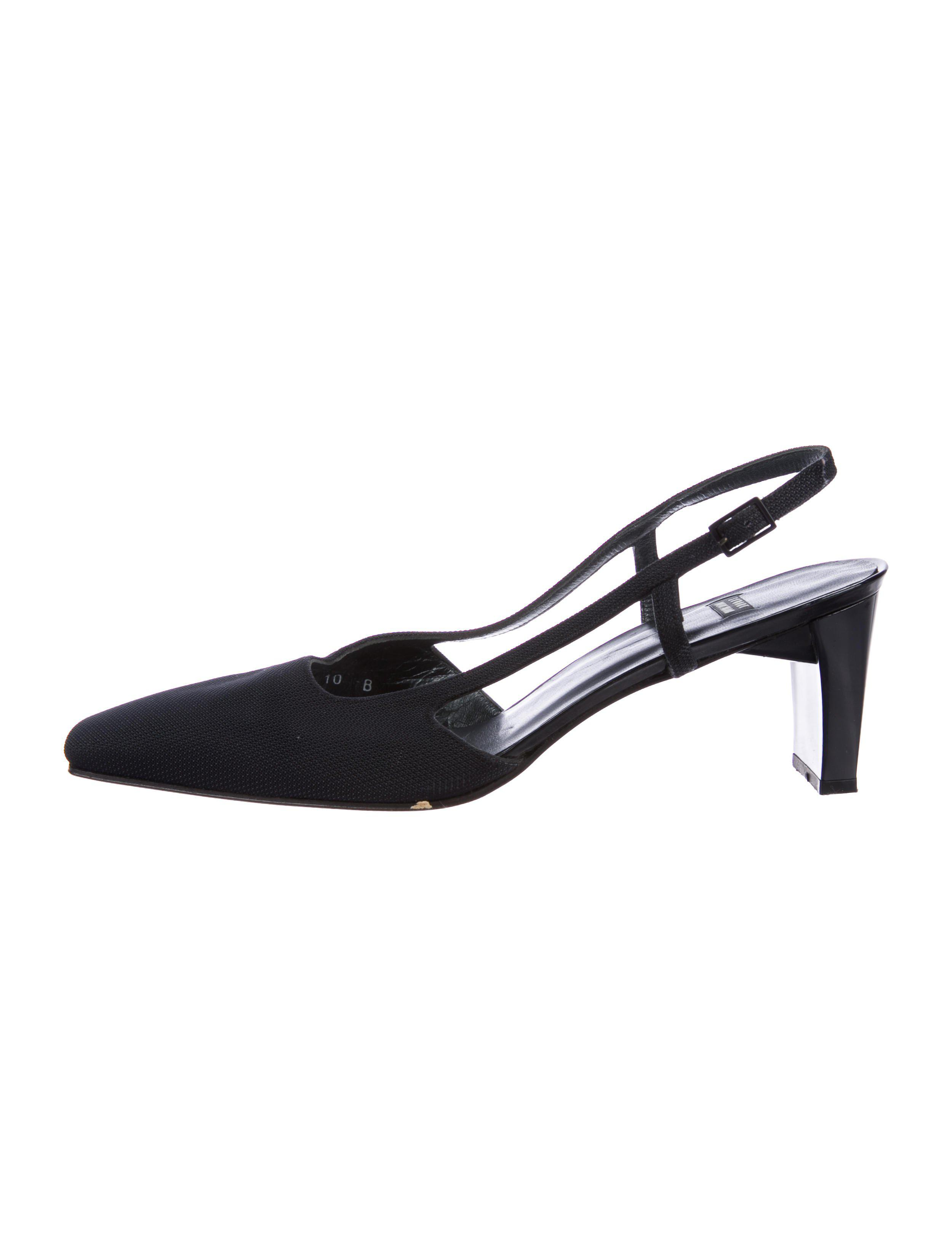 visa payment sale online Stuart Weitzman Canvas Slingback Pumps cheap sale real cheap choice outlet store for sale clearance from china nvFlC6KMRi