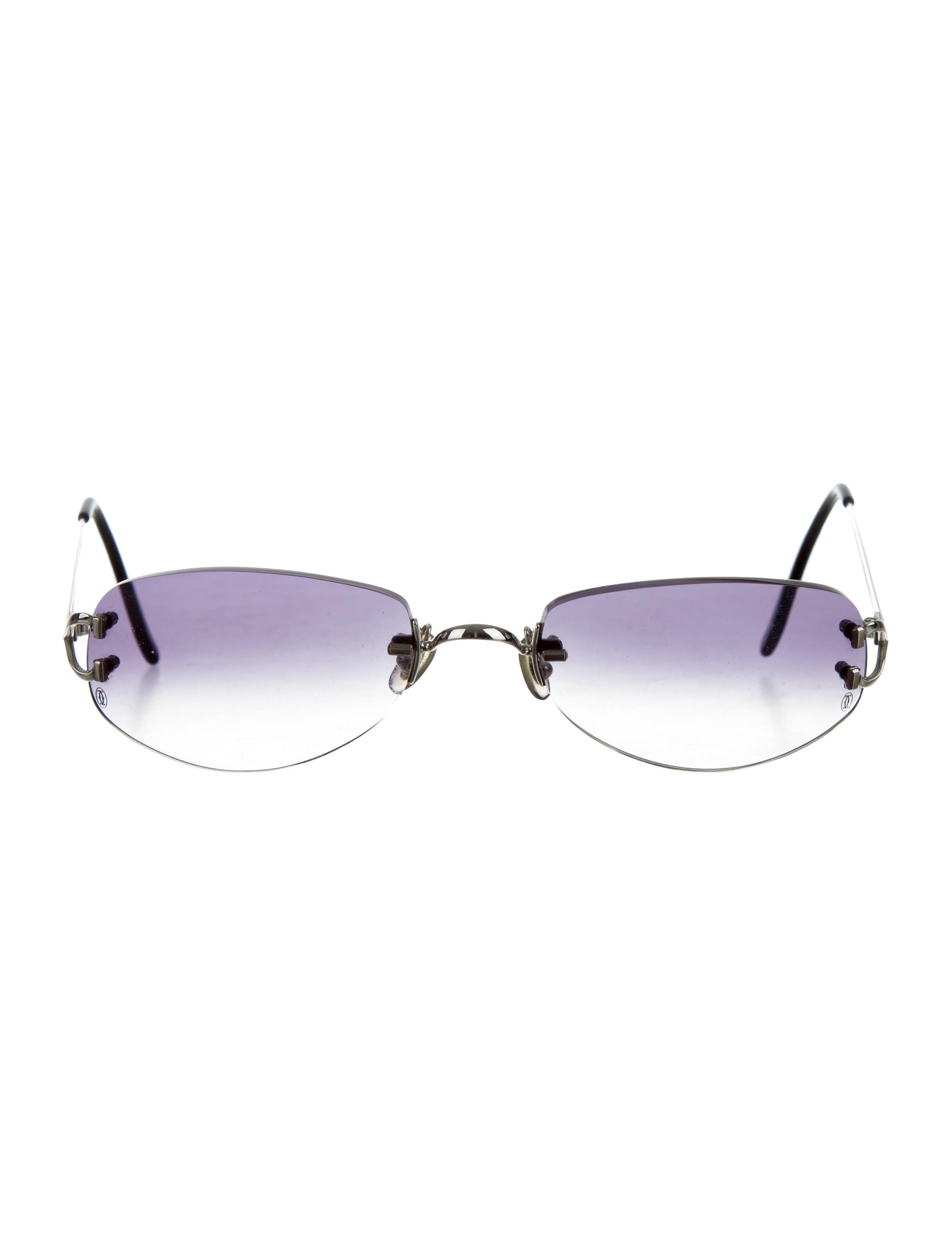 076d77e0c85 Lyst - Cartier Rimless Graident Sunglasses Silver in Metallic for Men
