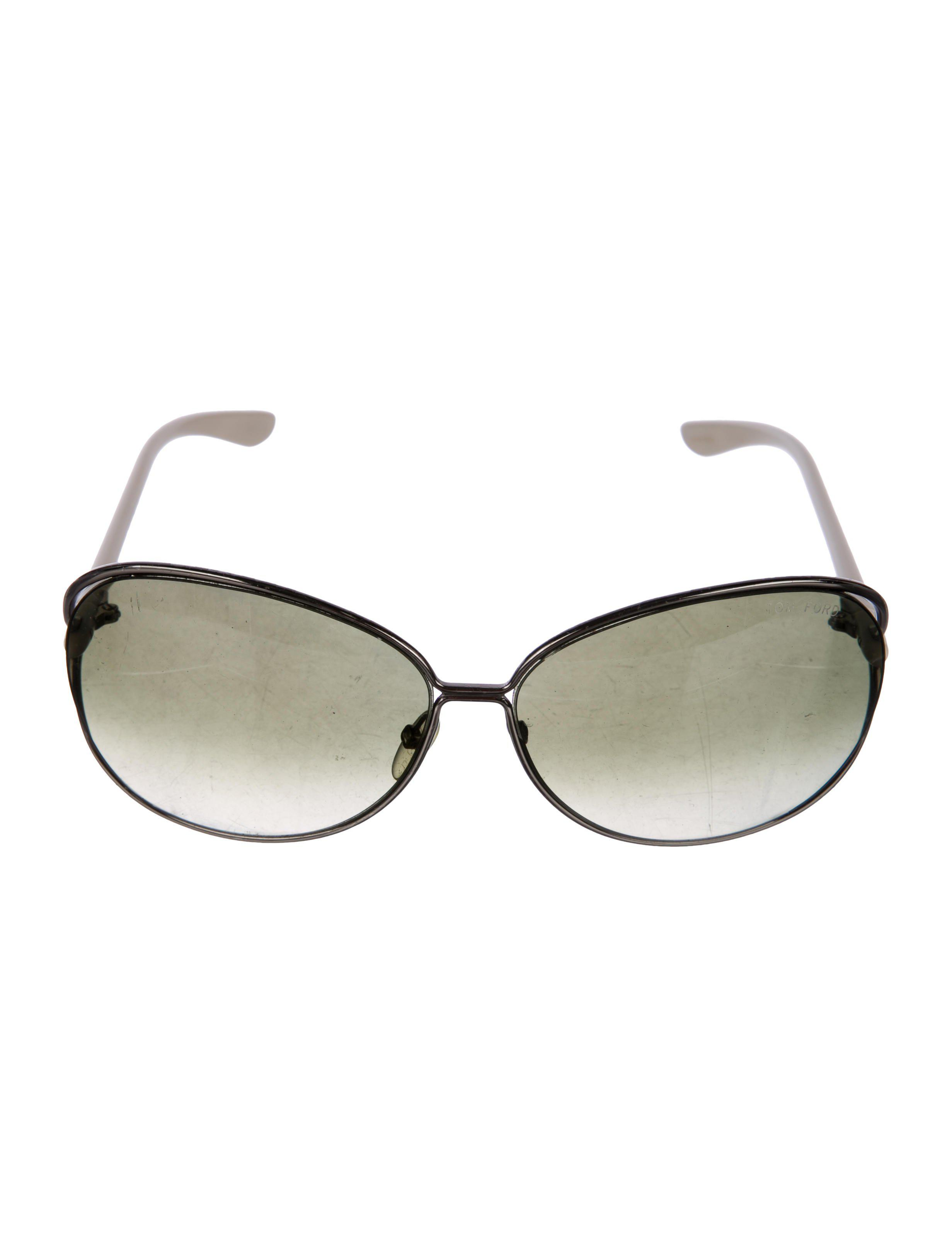 cd233f44ece8 Tom Ford - Natural Clémence Oversize Sunglasses Neutrals - Lyst. View  fullscreen