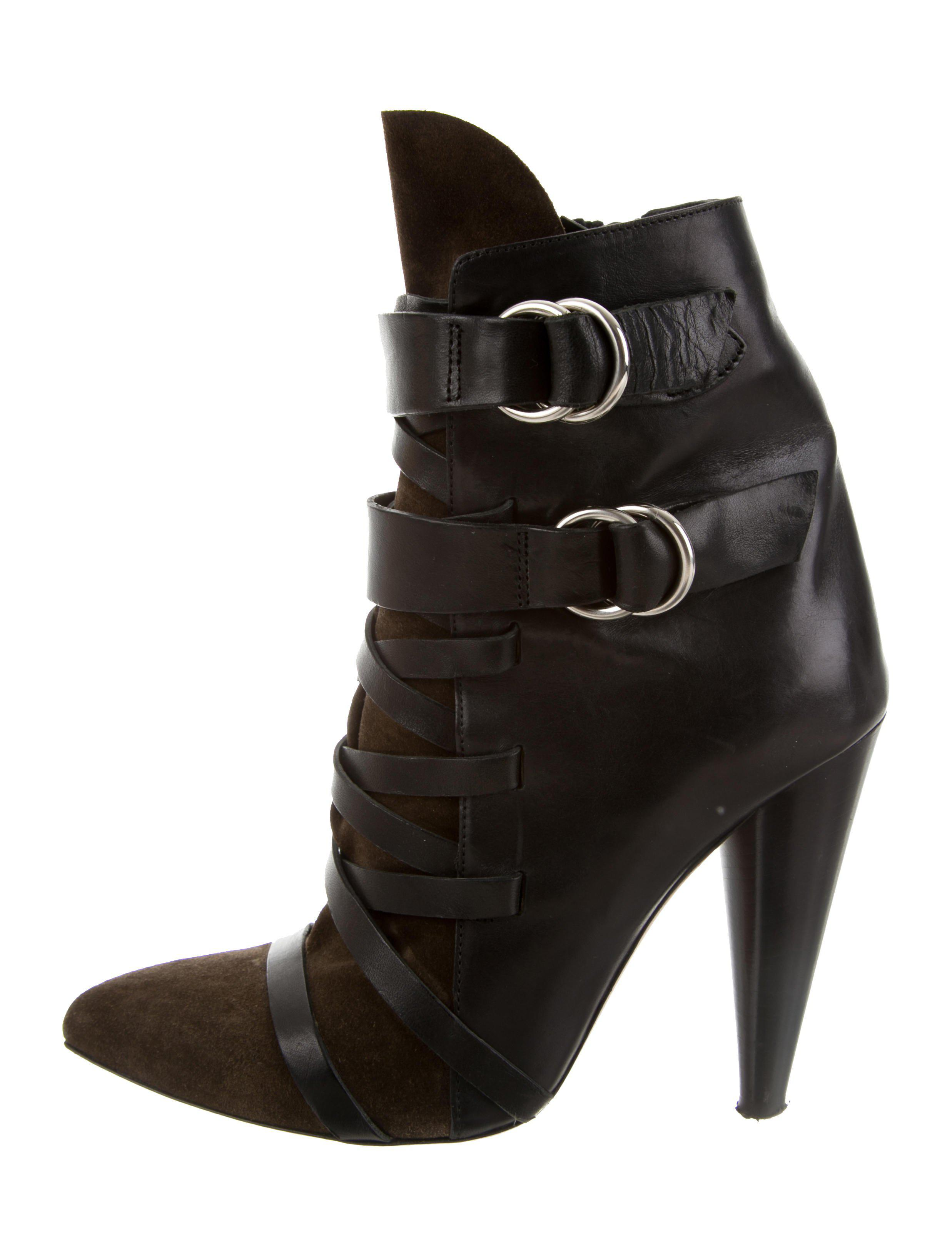 Isabel Marant Leather Lace-Up Ankle Boots clearance affordable recommend for sale cheap low shipping free shipping affordable cheap sale huge surprise BeLqVmUakn