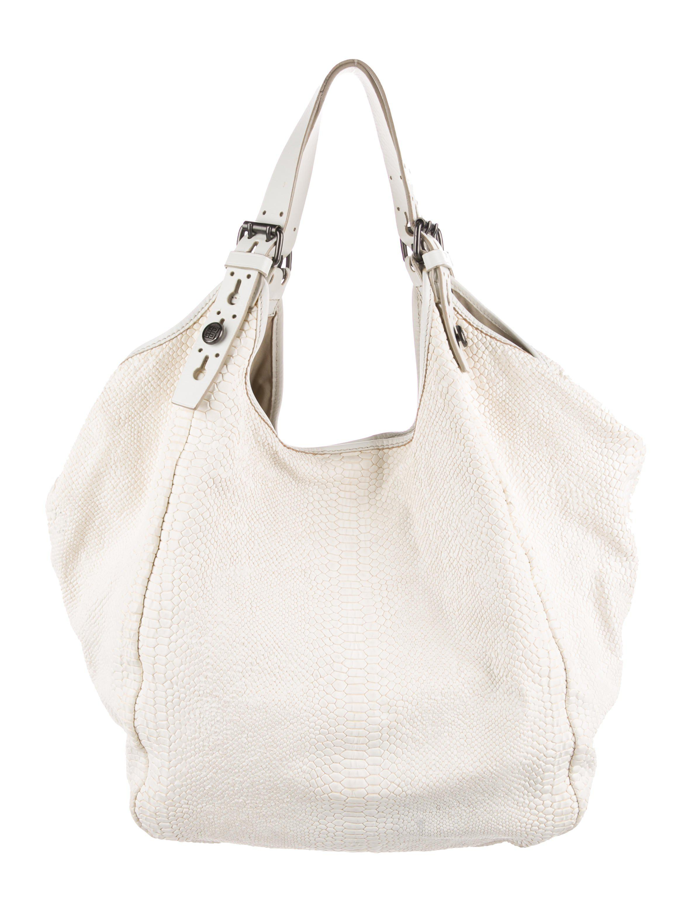 0c5a8c9a04c7 Lyst - Givenchy Tinhan Embossed Leather Hobo Beige in Natural