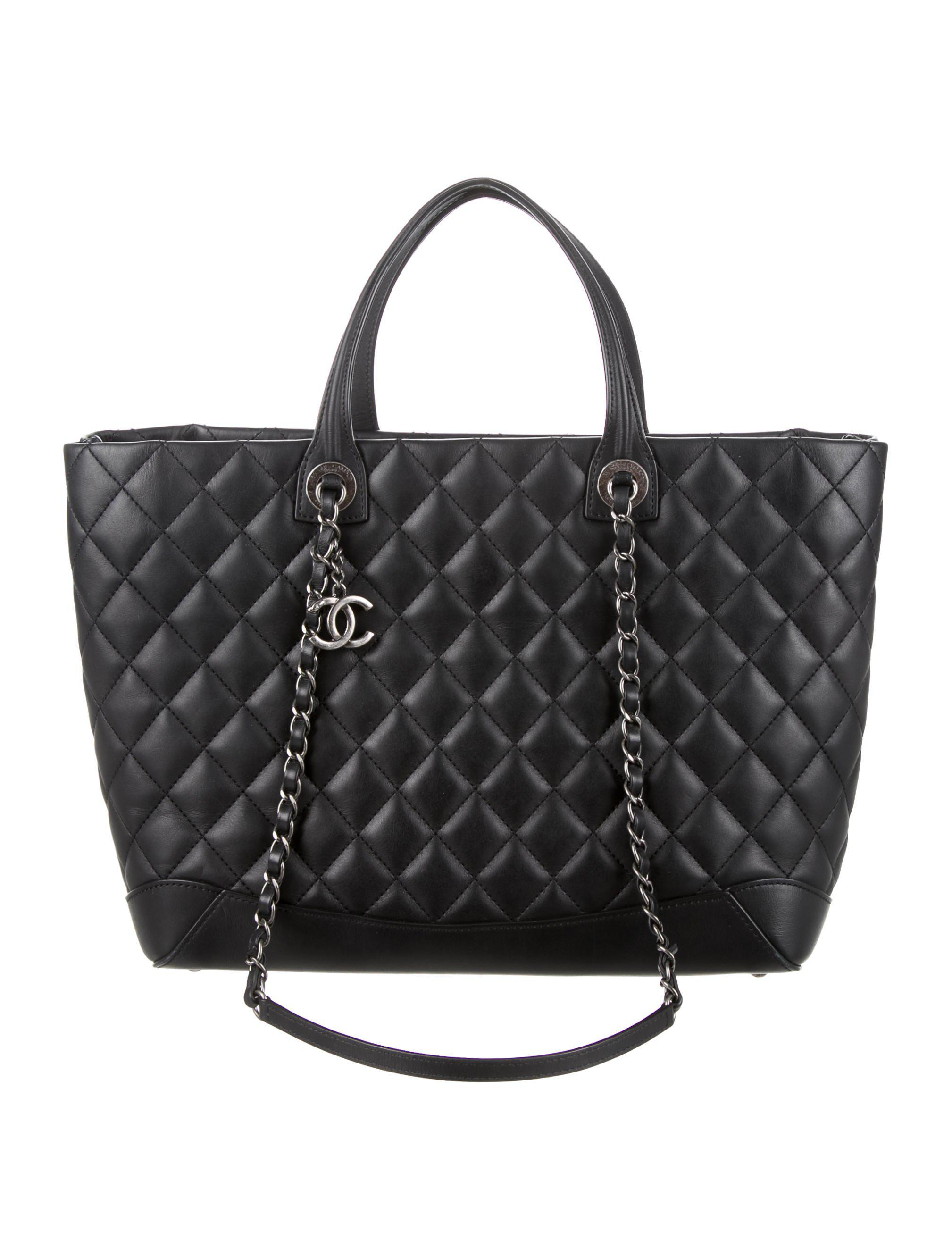 Lyst Chanel 2017 Quilted Large Easy Shopping Tote Black