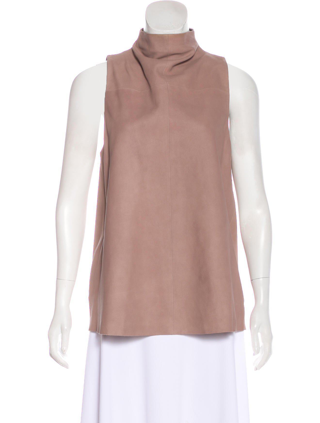 Veda Leather Mock Neck Top Wiki Cheap Online Fashionable For Sale Best Wholesale Sale Online Footlocker Finishline Online qTqBILFKa