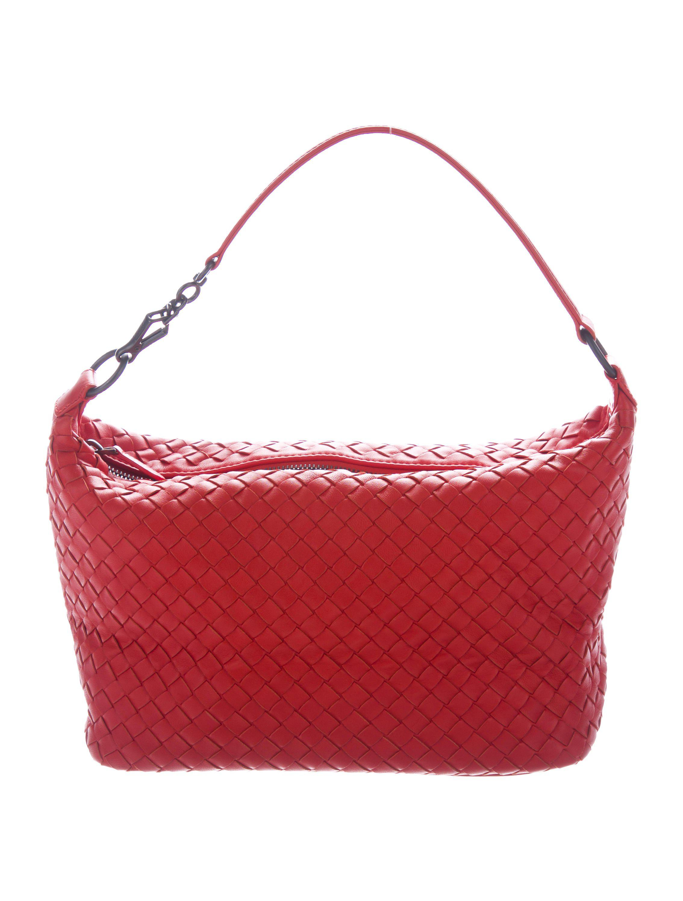 00e079cefb Lyst - Bottega Veneta Intrecciato Handle Bag Orange in Natural