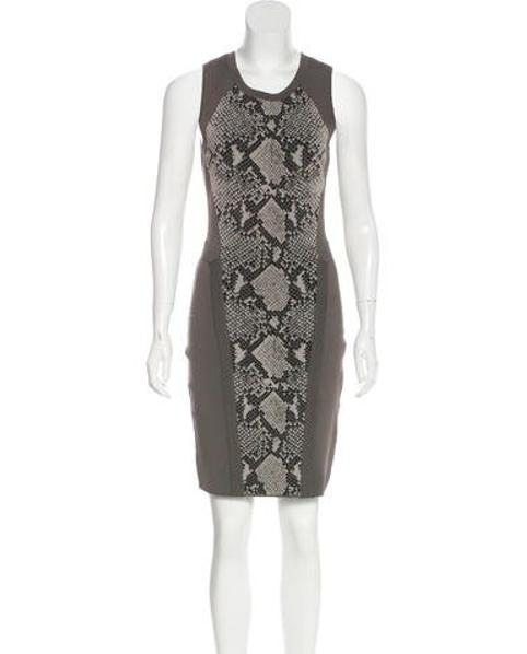 410364539cfa9 Lyst - Diane Von Furstenberg Franca Animal Print Dress Grey in Gray ...