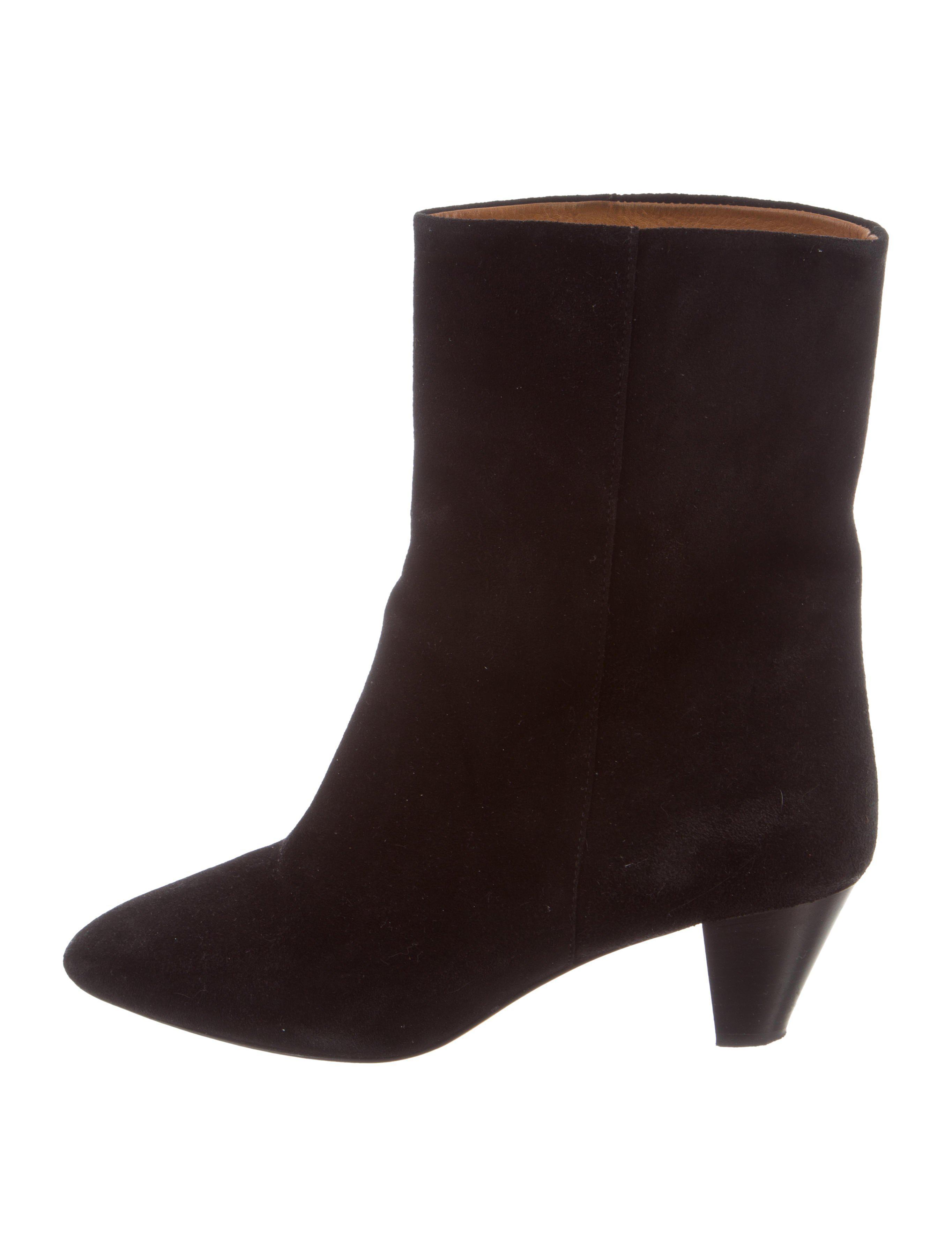 Étoile Isabel Marant Suede Round-Toe Booties discount genuine cheap sale view cheap sale official site ycvcN2QbJ