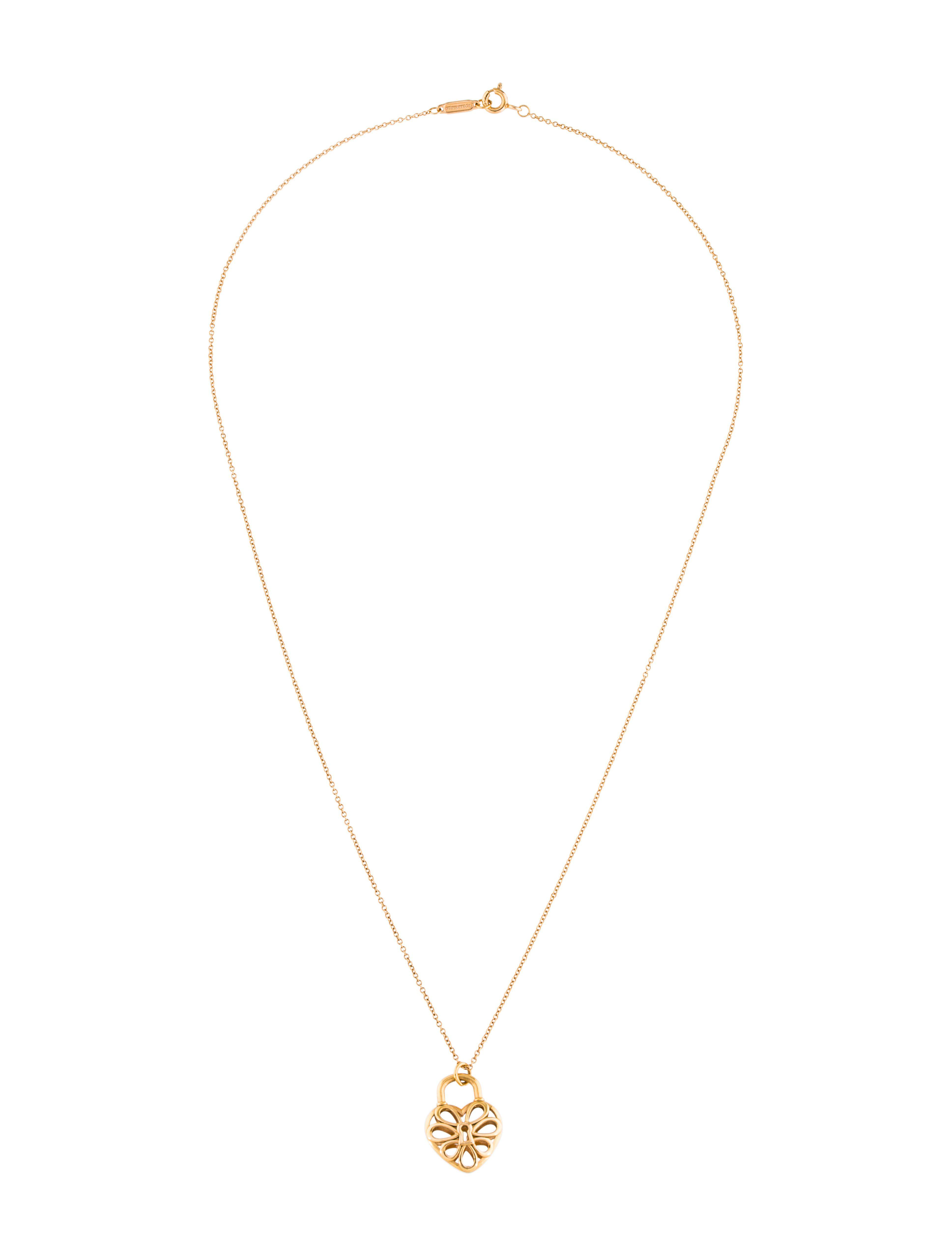 Lyst tiffany co 18k filigree heart lock pendant yellow in metallic gallery aloadofball Choice Image
