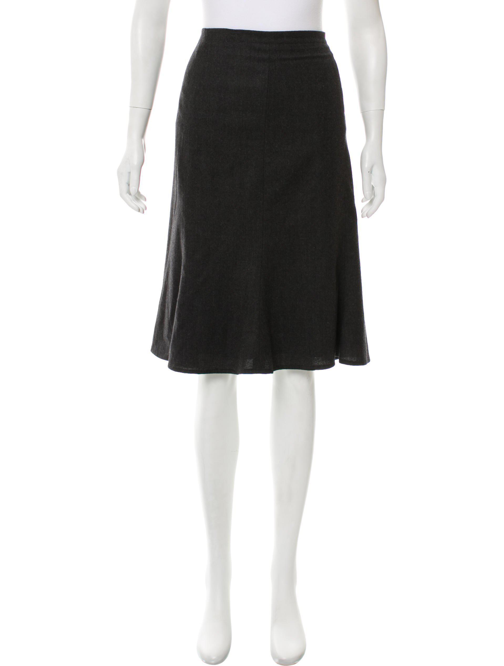 e6a57b96f0 Lyst - Carolina Herrera Wool Knee-length Skirt Grey in Gray