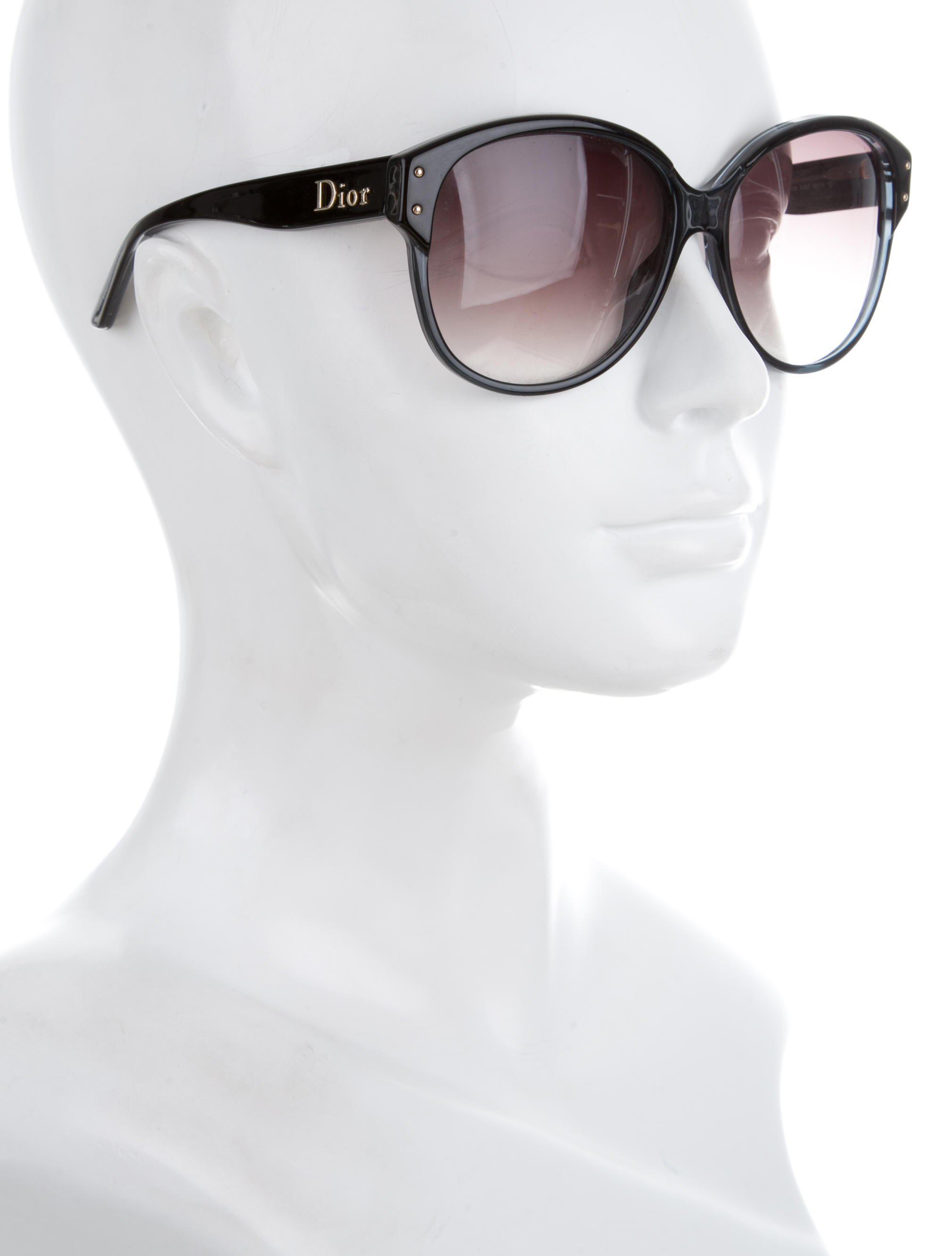 e80f292b707 Lyst - Dior Oversize Tinted Sunglasses Black in Metallic