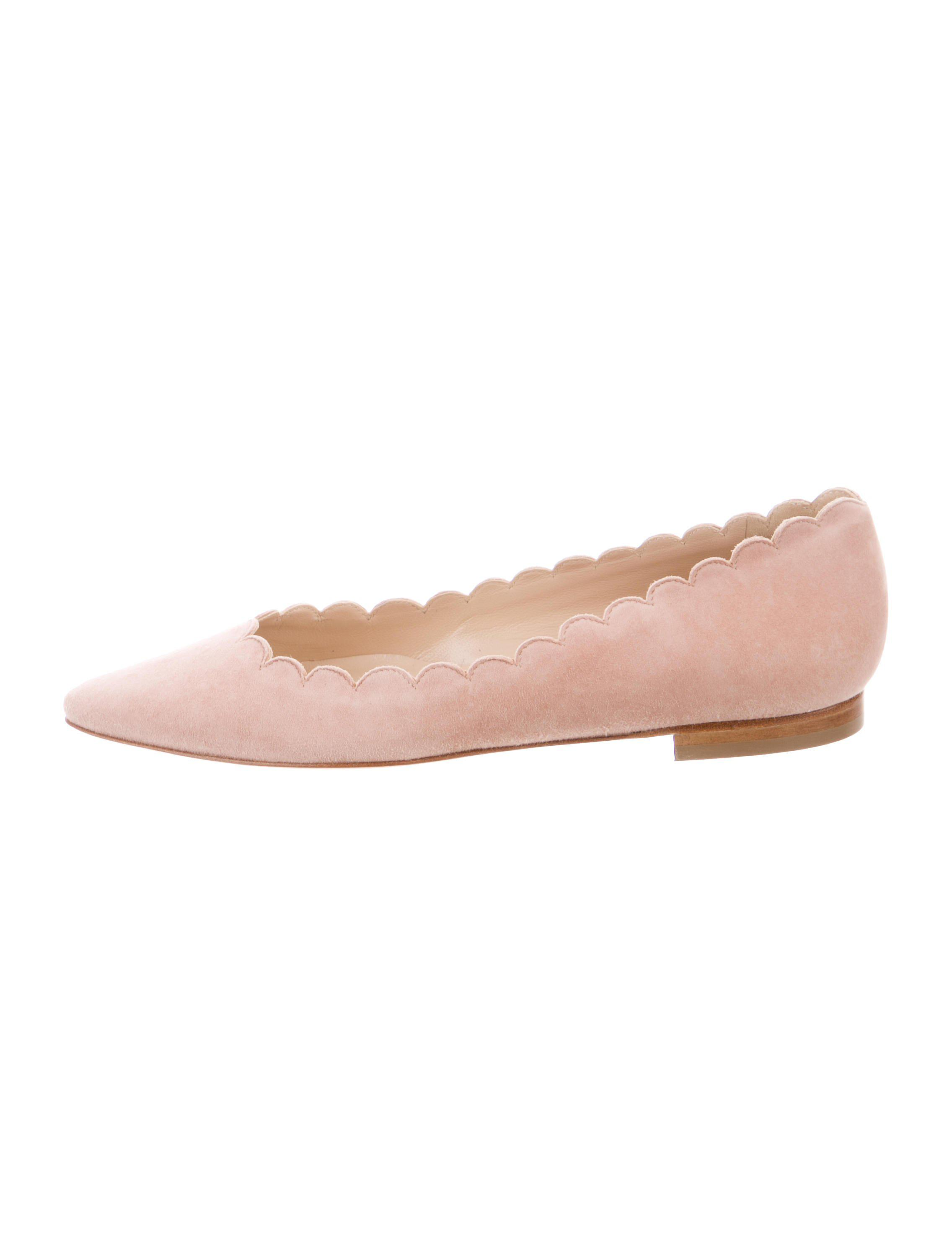 Manolo Blahnik Suede Scalloped Flats w/ Tags cheap sale pictures sale online store affordable for sale discount geniue stockist buy cheap with credit card ylPYSVL