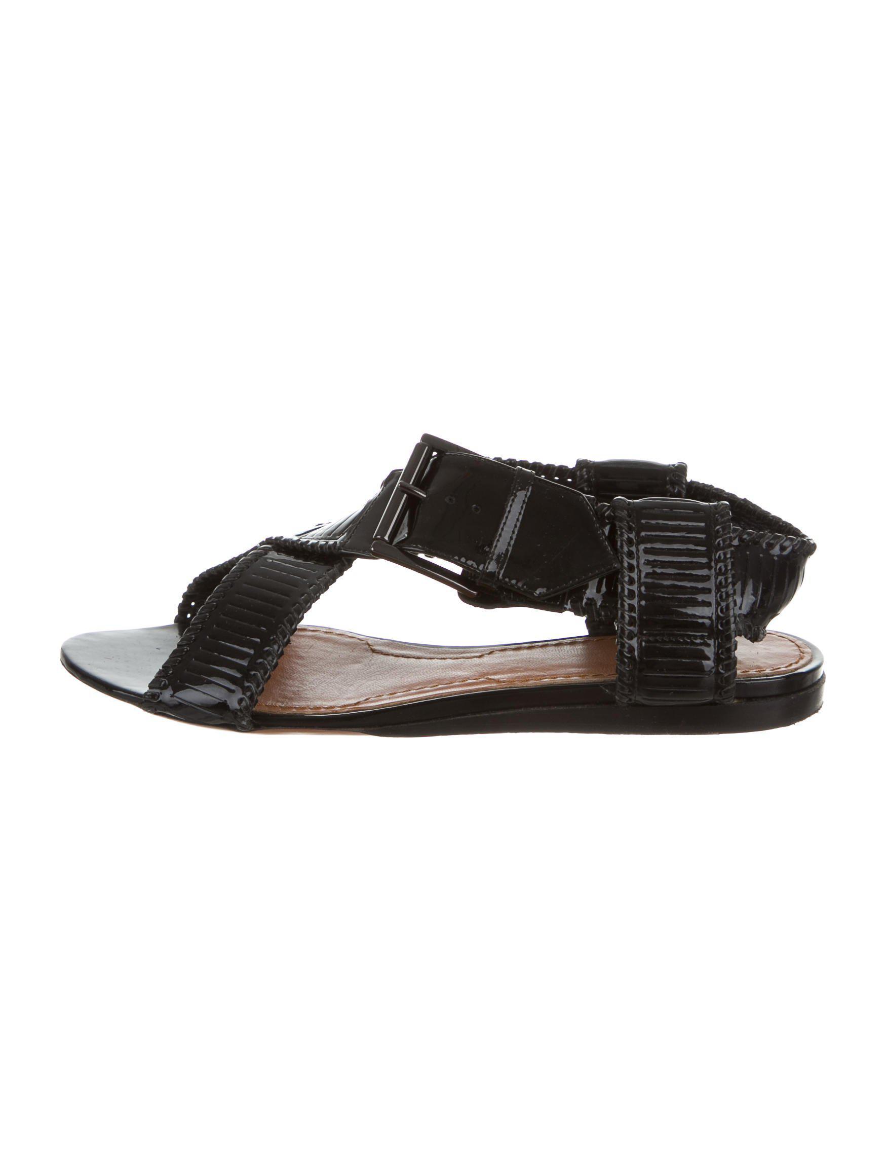 Black leather cross-over sandal Givenchy OnCio6EmAO