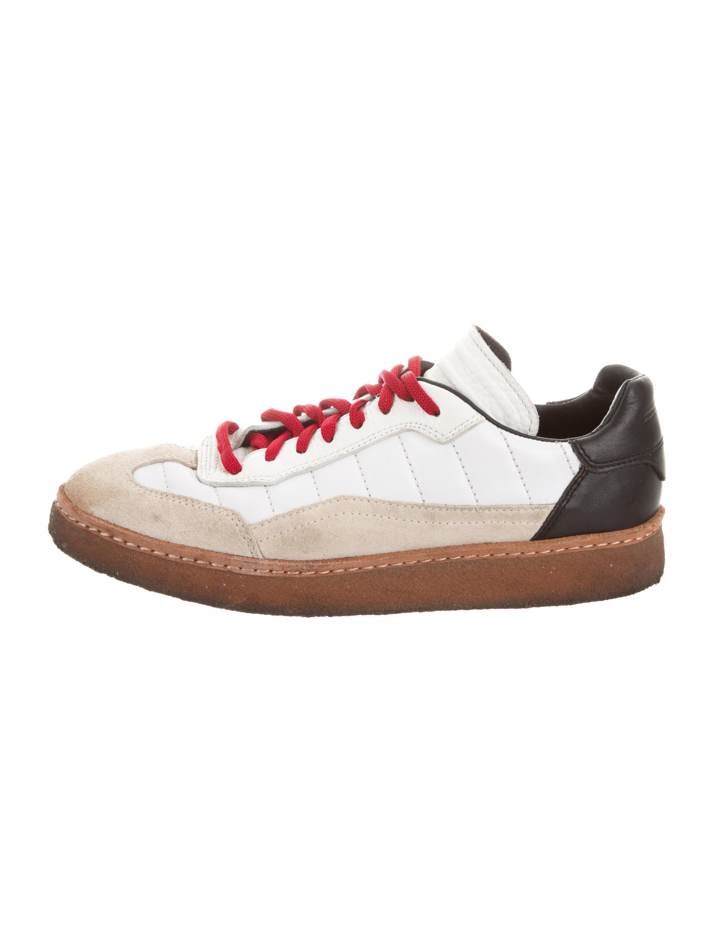 e6b8f797ee4 Lyst - Alexander Wang Leather Low Top  Sneakers in White